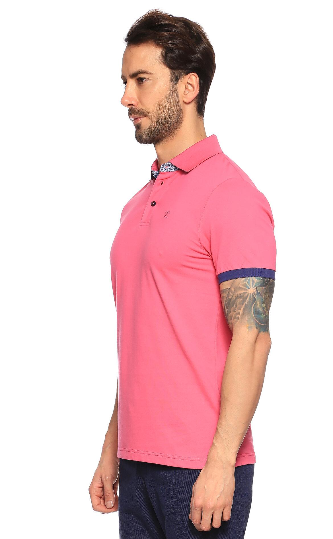 Hackett Pembe Polo T-Shirt