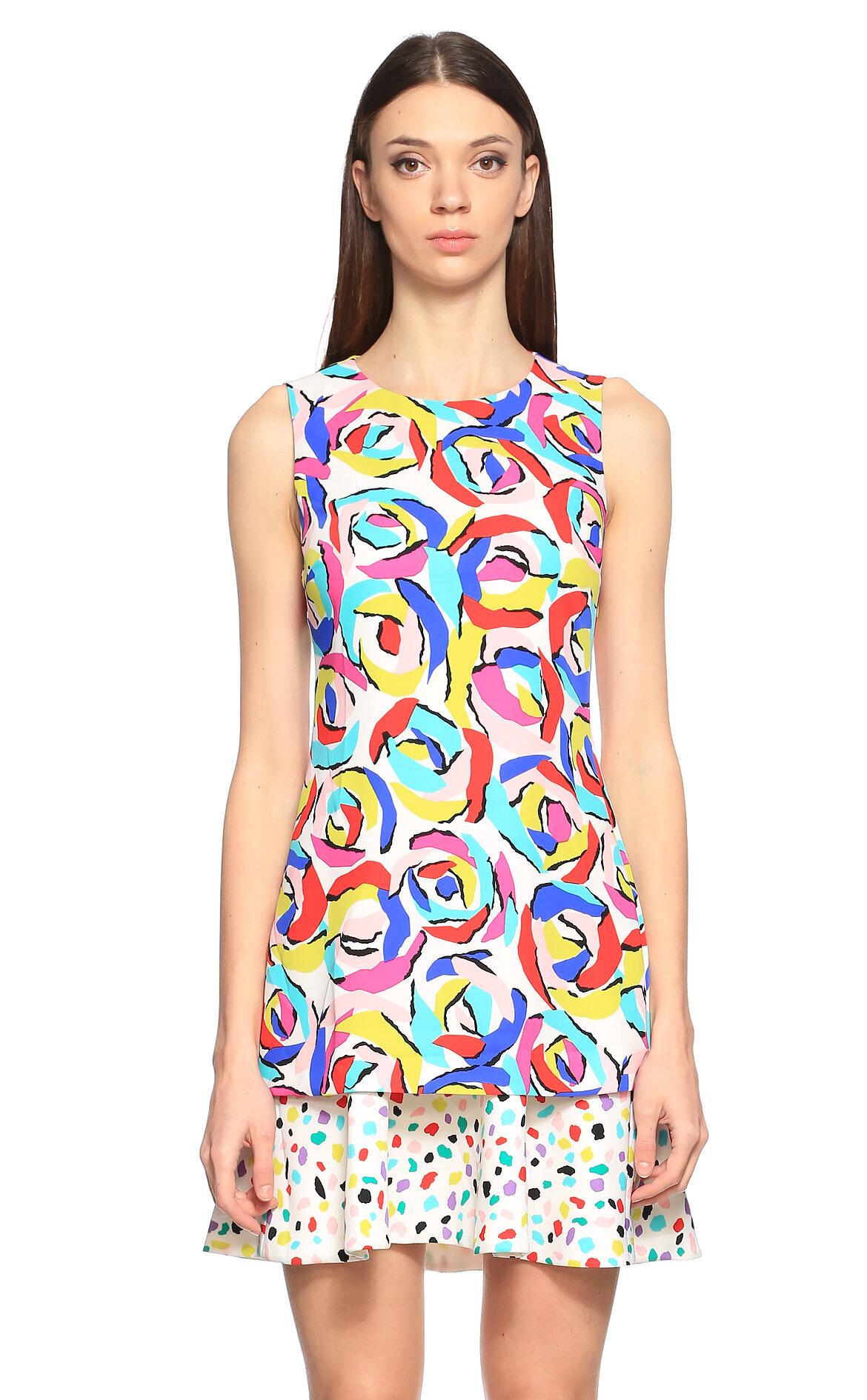 Boutique Moschino Renkli Mini Elbise