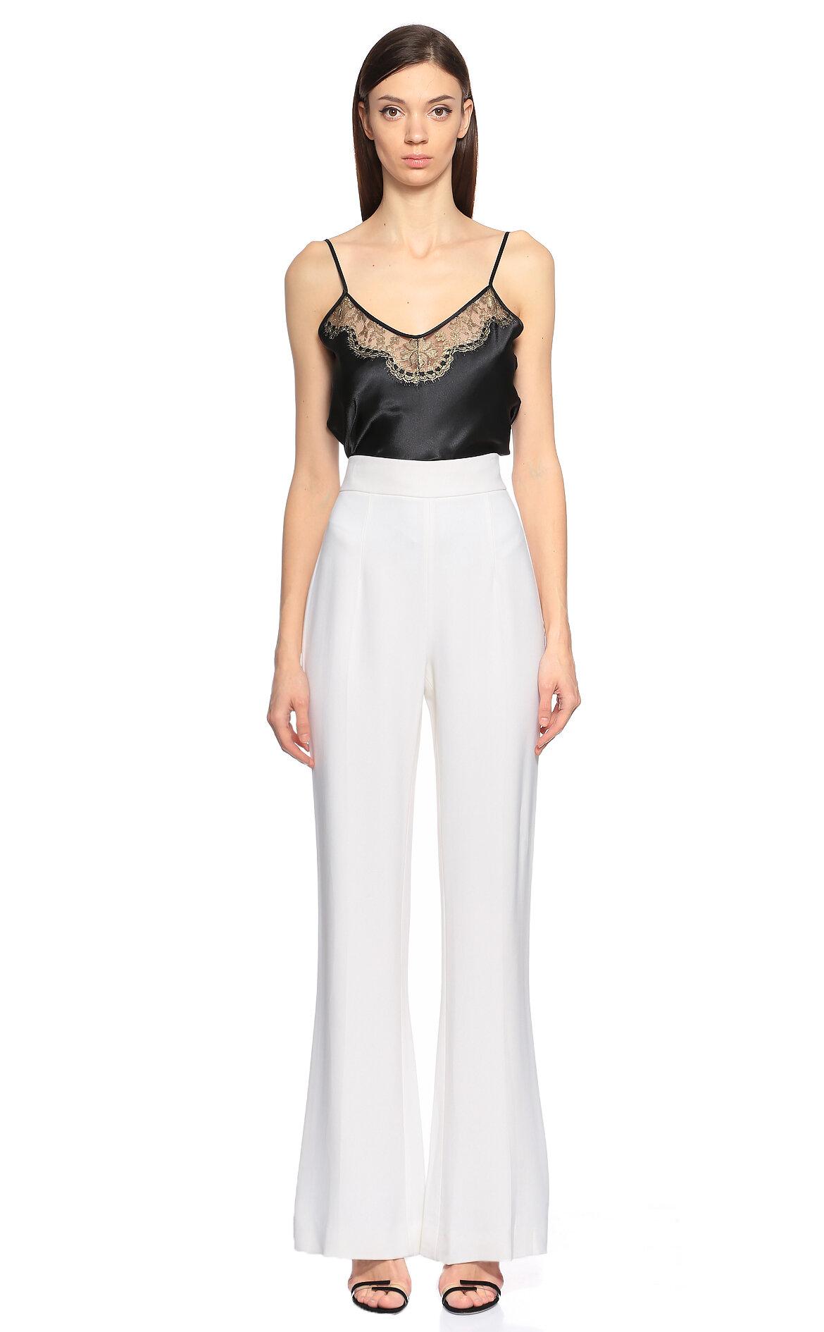 Cushnie et Ochs Geniş Kesim Beyaz Pantolon