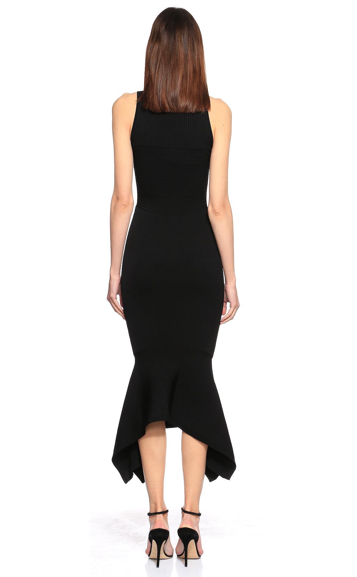 Cushnie et Ochs Volanlı Siyah Elbise
