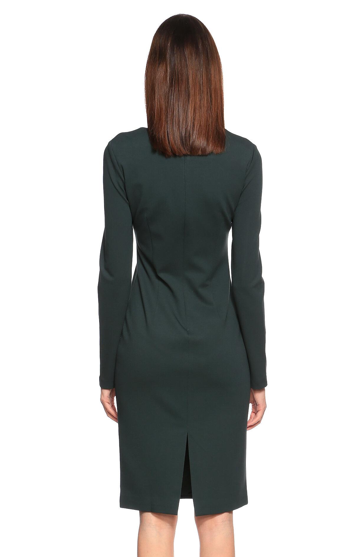 Cushnie et Ochs Yeşil Diz Üstü Elbise