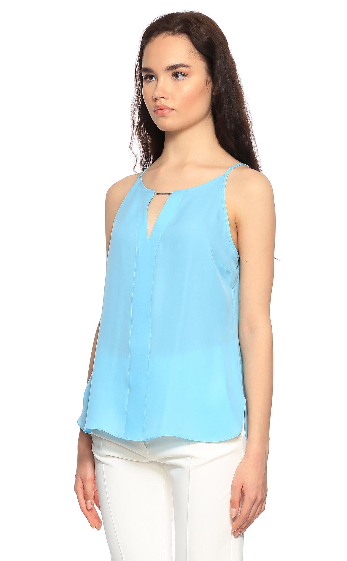 Elie Tahari Askılı Mavi Bluz