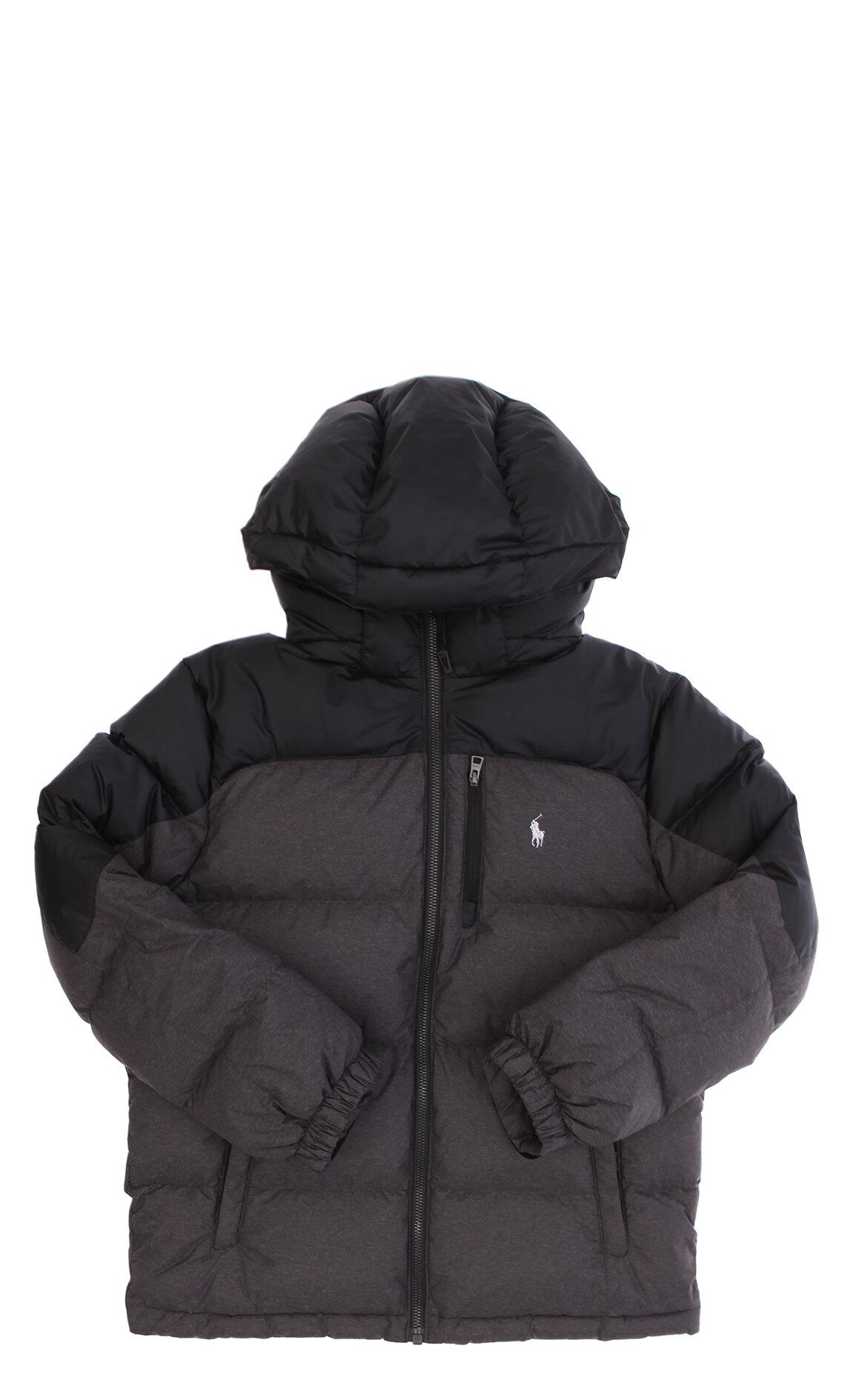 Polo Ralph Lauren Erkek Çocuk  Kapüşonlu Gri Ceket