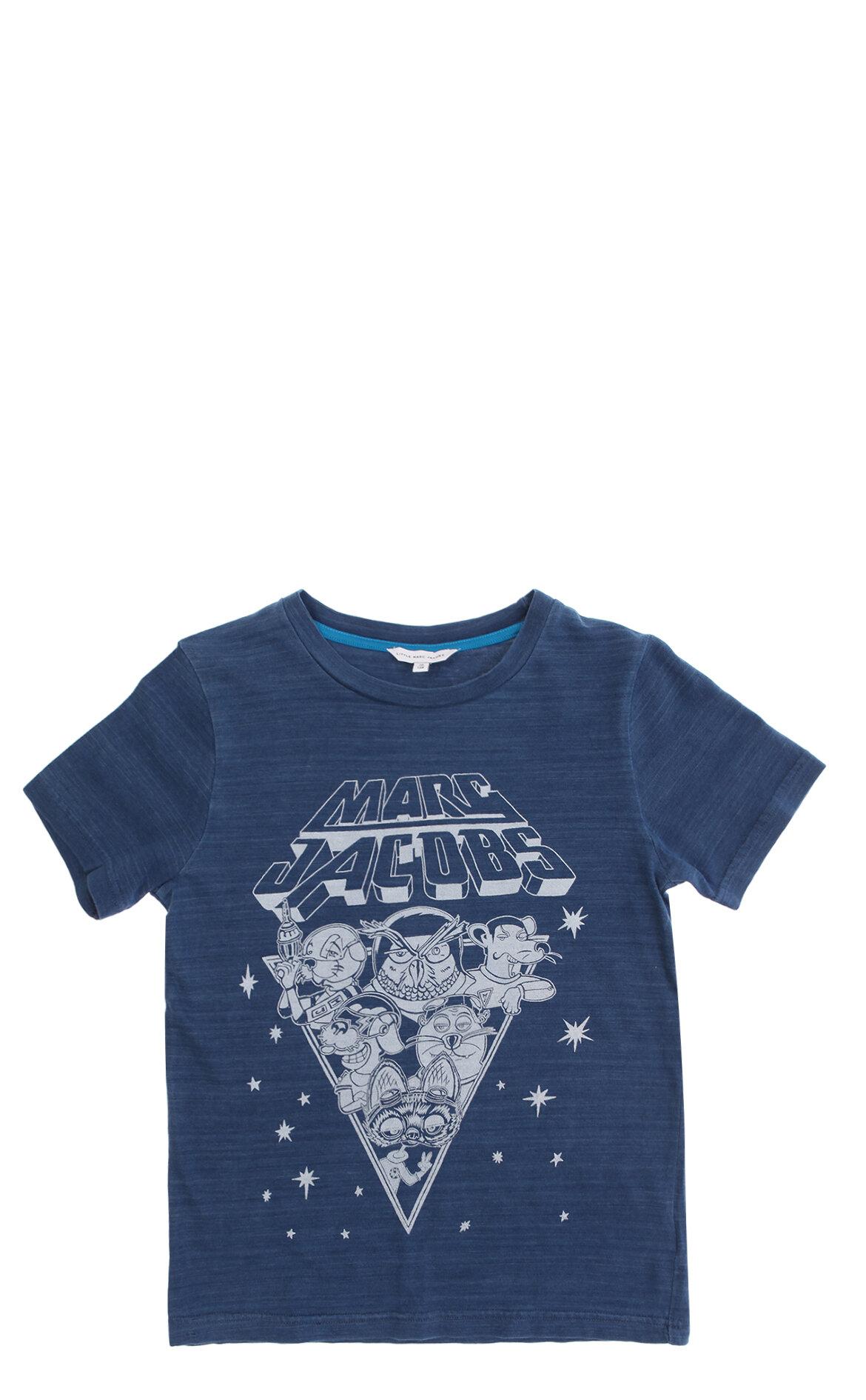 Little Marc Jacobs-Little Marc Jacobs Erkek Çocuk  Baskı Desen T-Shirt