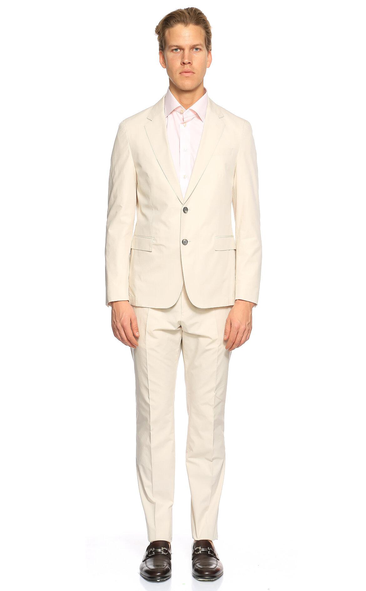 Hugo Boss-Hugo Boss Bej Takım Elbise