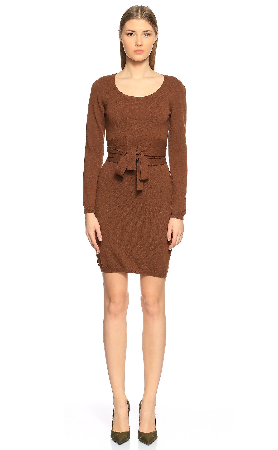 Malo  Kahverengi Mini Elbise