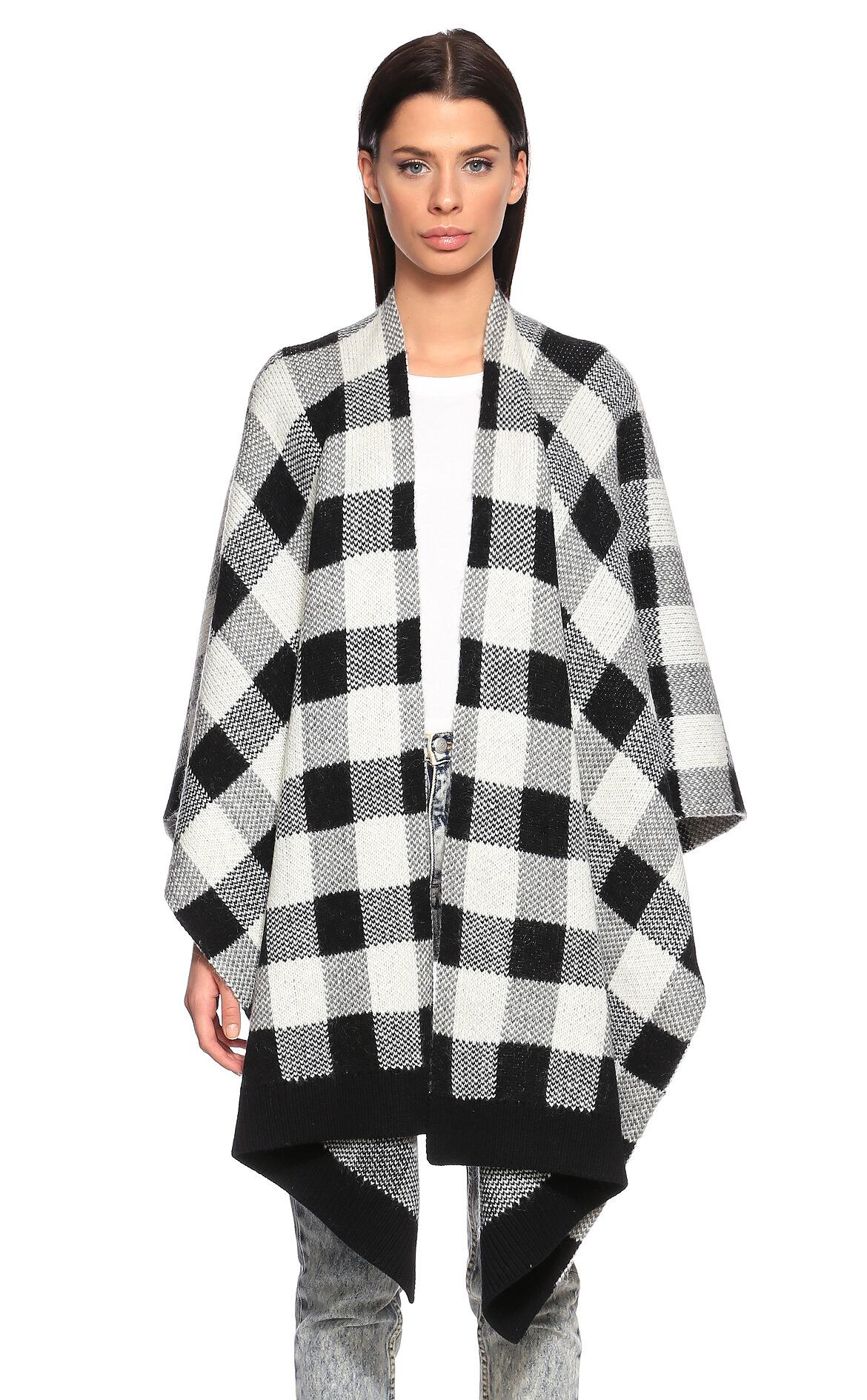 Juicy Couture-Juicy Couture Kareli Siyah-Beyaz Panço