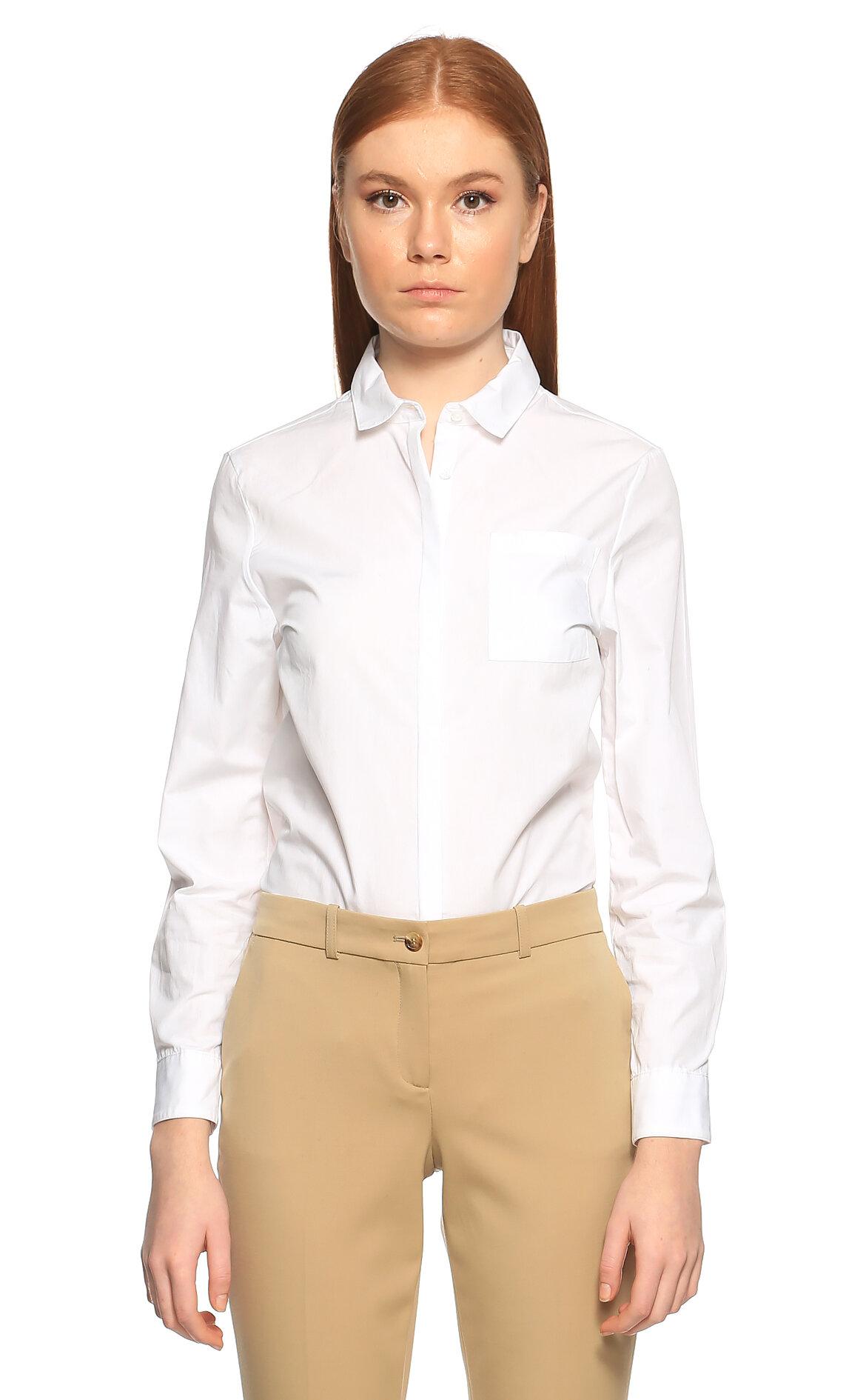 Jodhpur Women-Jodhpur Women Cepli Beyaz Gömlek