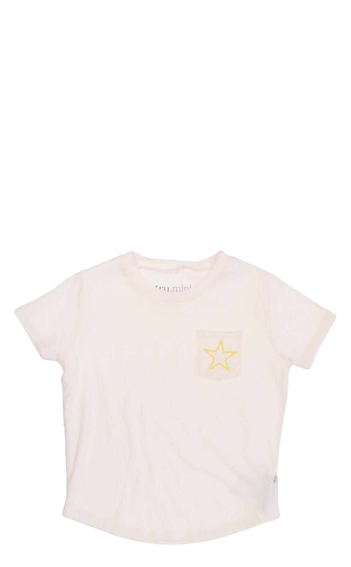 Tru-Tru Kız Çocuk  Cepli T-Shirt