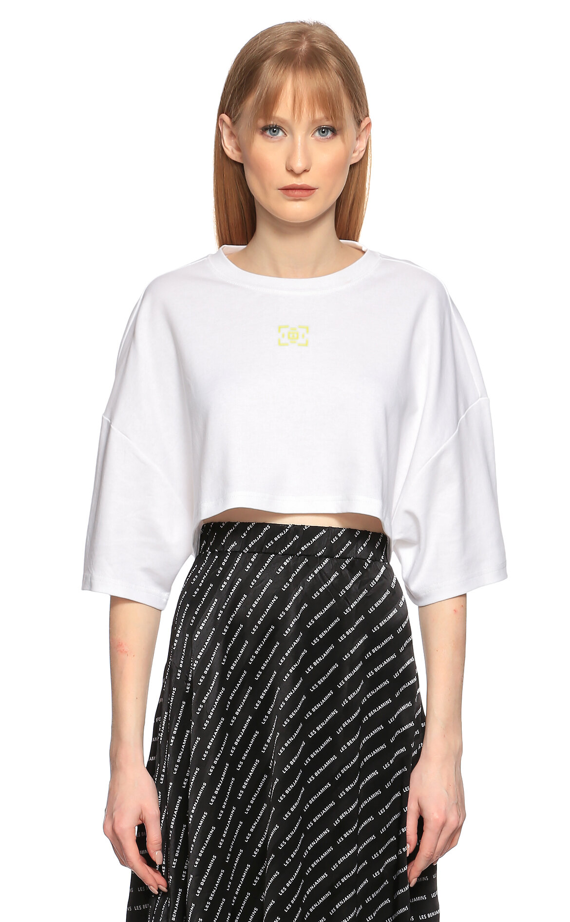 Les Benjamins-Les Benjamins Baskılı Beyaz T-Shirt