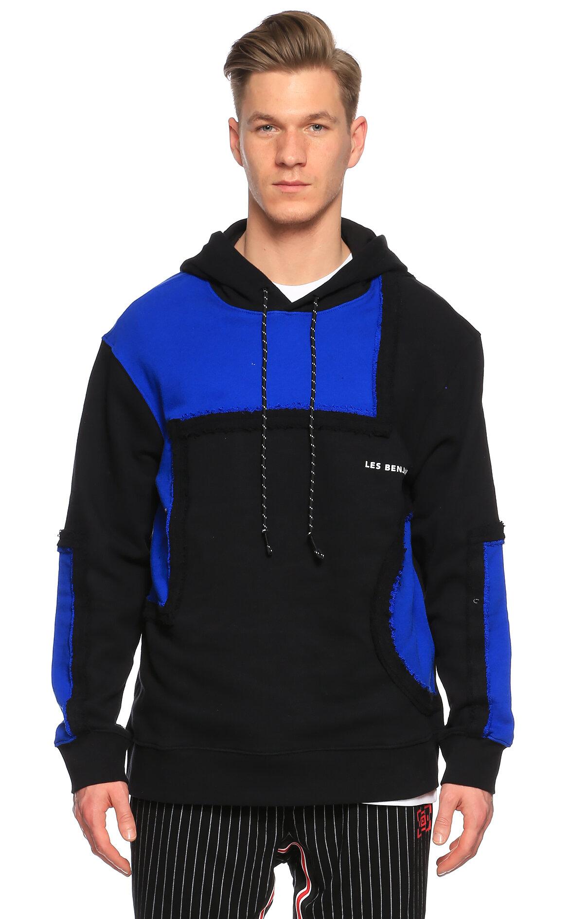 Les Benjamins-Les Benjamins Kapüşonlu Siyah - Lacivert Sweatshirt