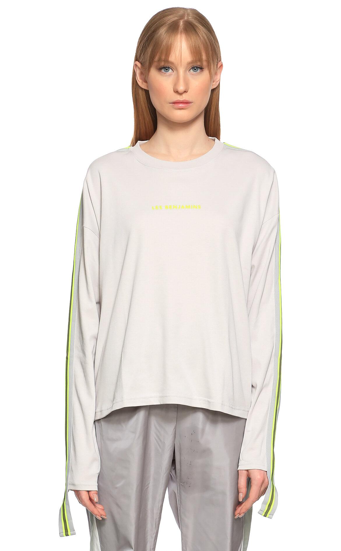 Les Benjamins-Les Benjamins Uzun Kollu Gri T-Shirt