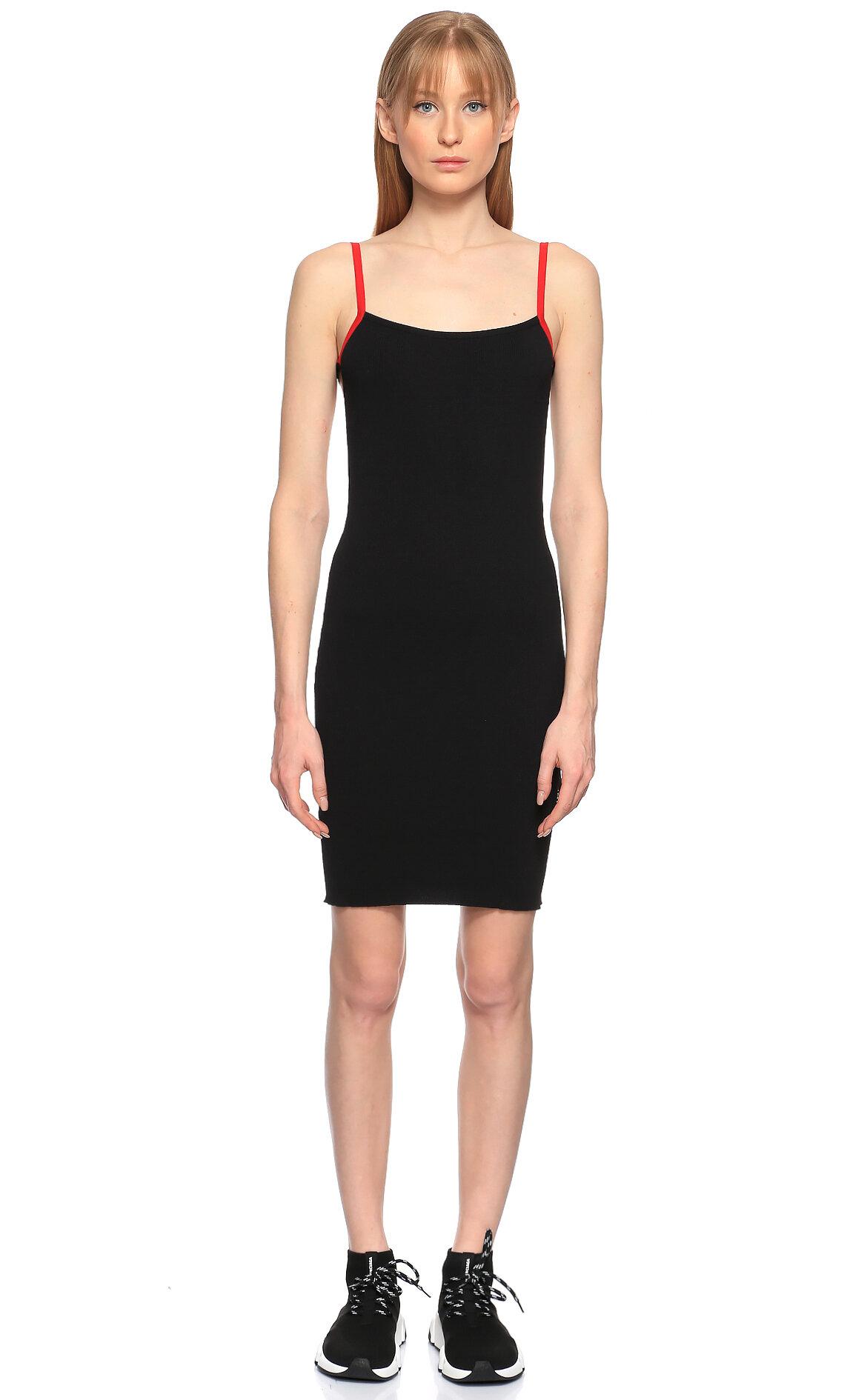 Les Benjamins-Les Benjamins Askılı Mini Siyah Elbise