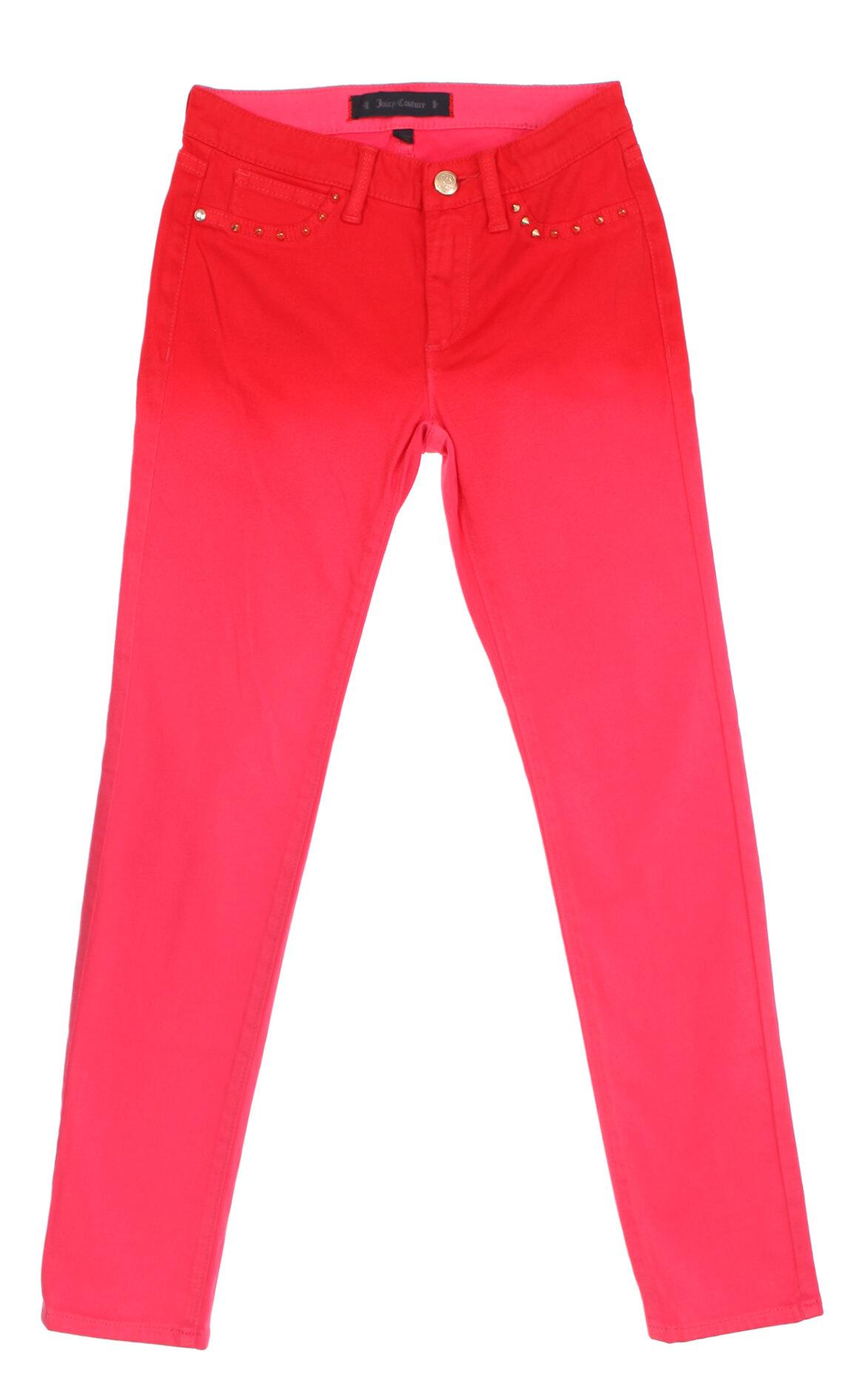 Juicy Couture-Juicy Couture Zımba Detaylı Kırmızı Kız Çocuk Pantolon