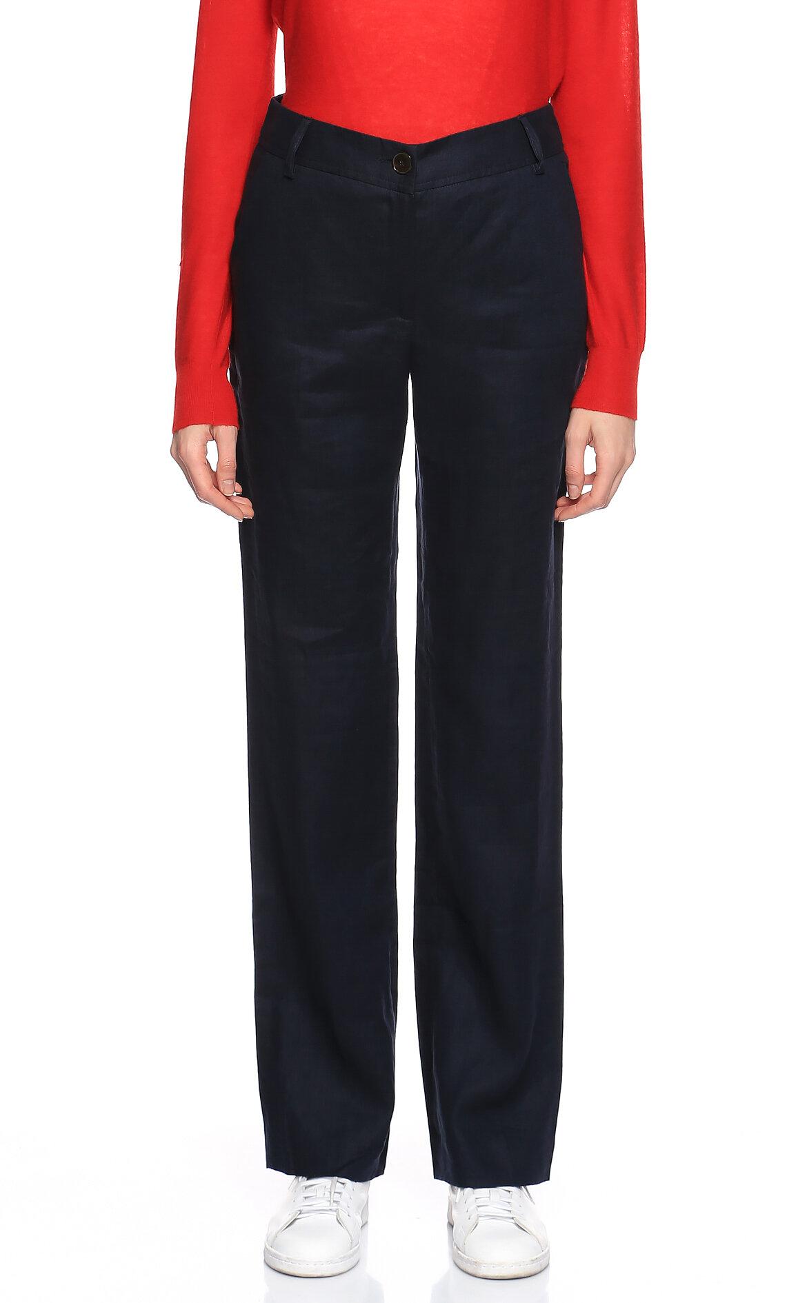 Gerard Darel-Gerard Darel Geniş Paçalı Lacivert Pantolon
