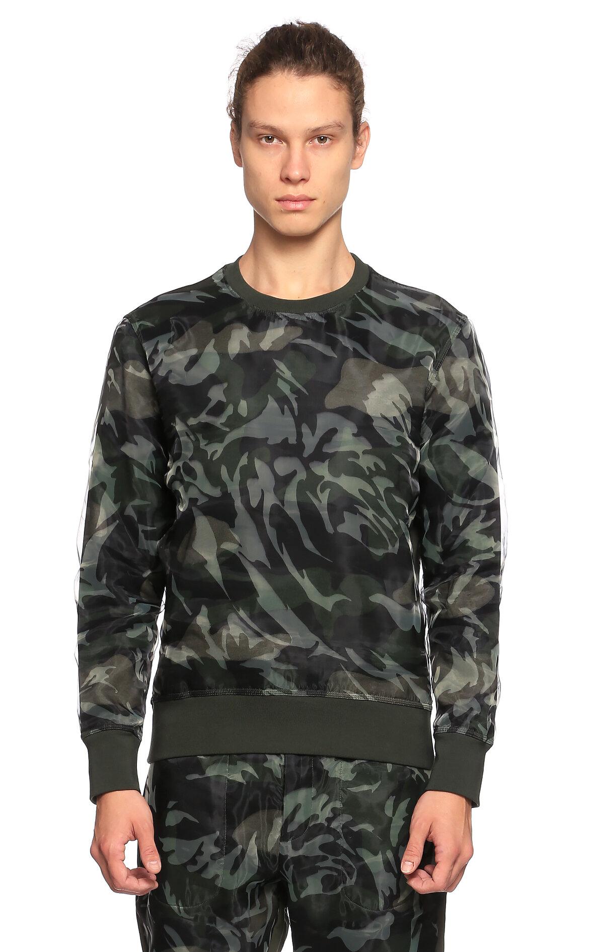 Alexander McQueen-Alexander Mcqueen Karma Desenli Yeşil Sweatshirt