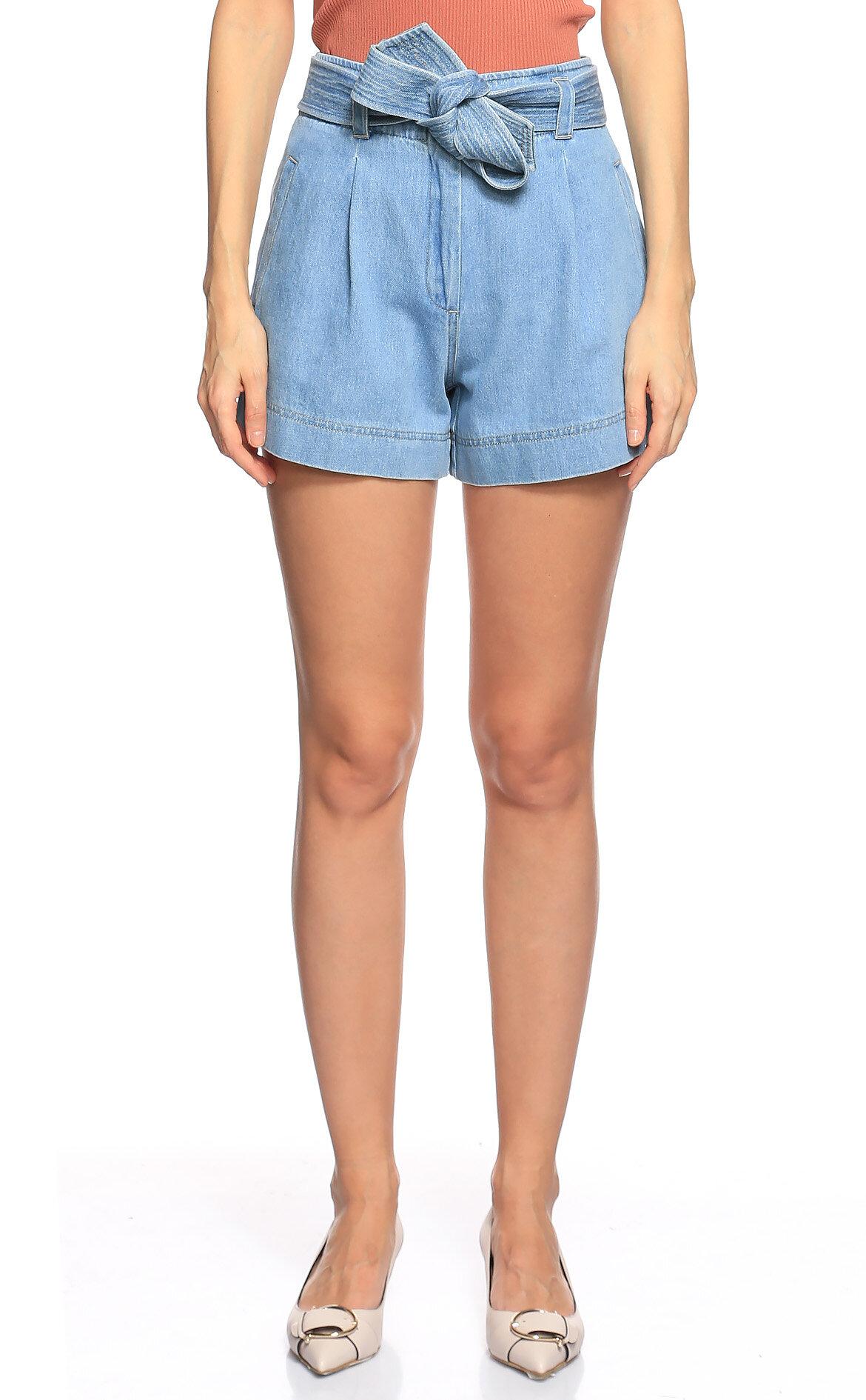 Nisse-Nisse Yüksek Belli Mavi Jean Pantolon