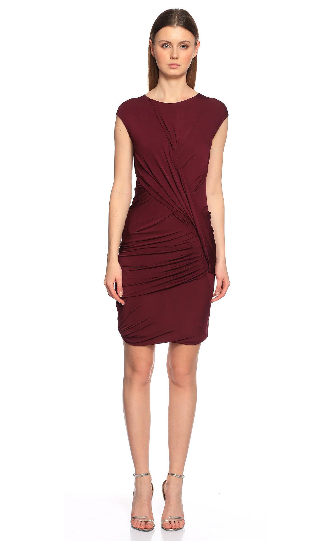 Donna Karan-Donna Karan Mini Mor Elbise
