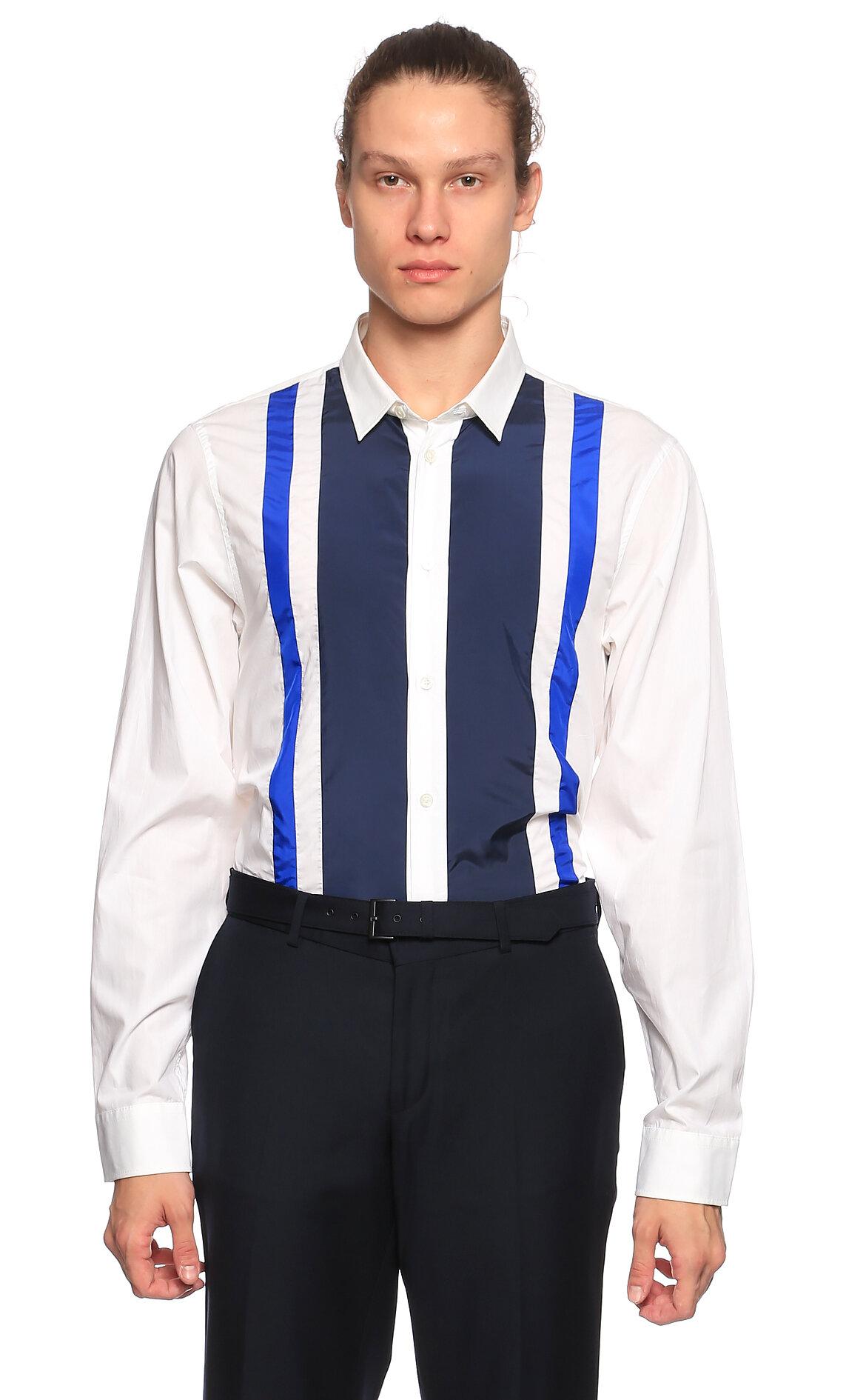 Victor & Rolf Detaylı Beyaz-Mavi Gömlek