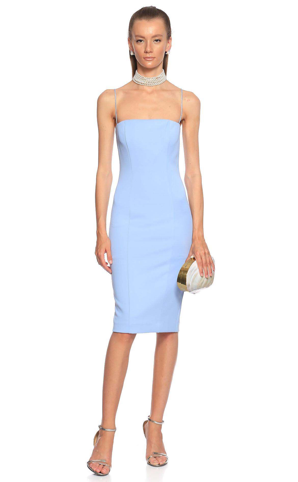 Misha  Askılı Mavi Elbise