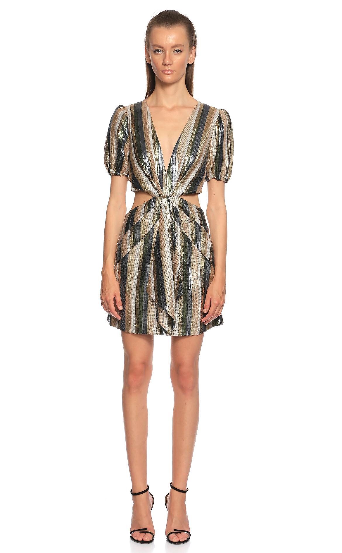 Misha  Pul Payet Mini Renkli Elbise