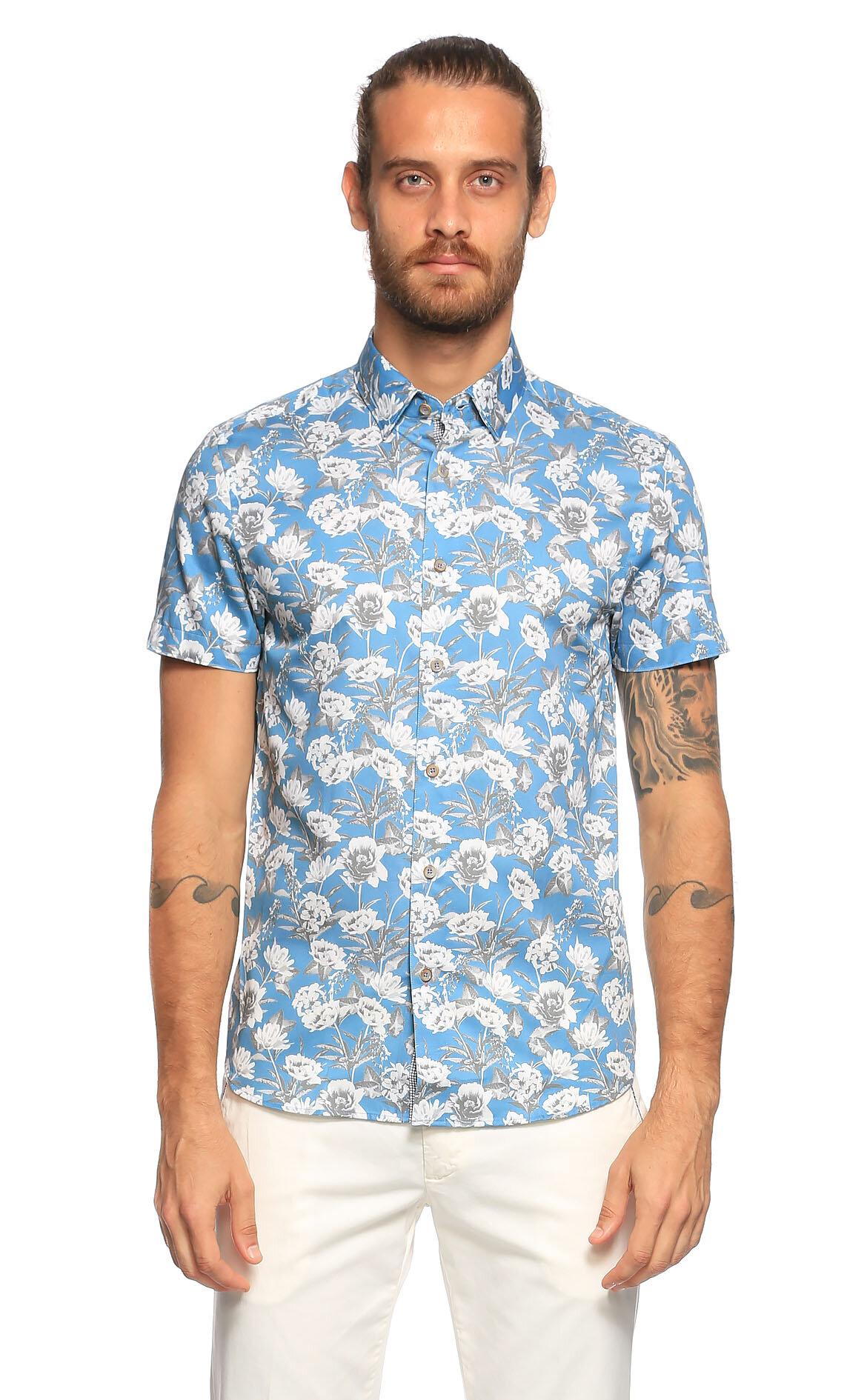 702c6c54a2781 Ted Baker Erkek Mavi Gömlek TEDTH9MPEACHYBLUE-BLUE - Brandroom