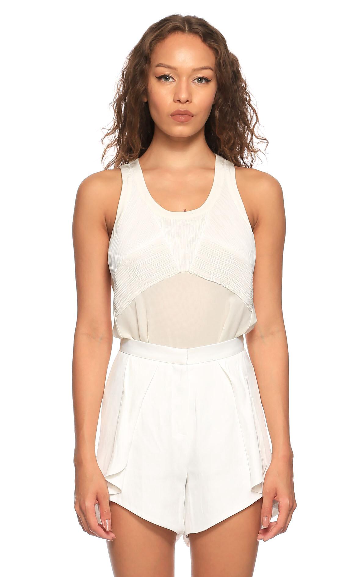 Barbara Bui-Barbara Bui Kolsuz Beyaz T-Shirt
