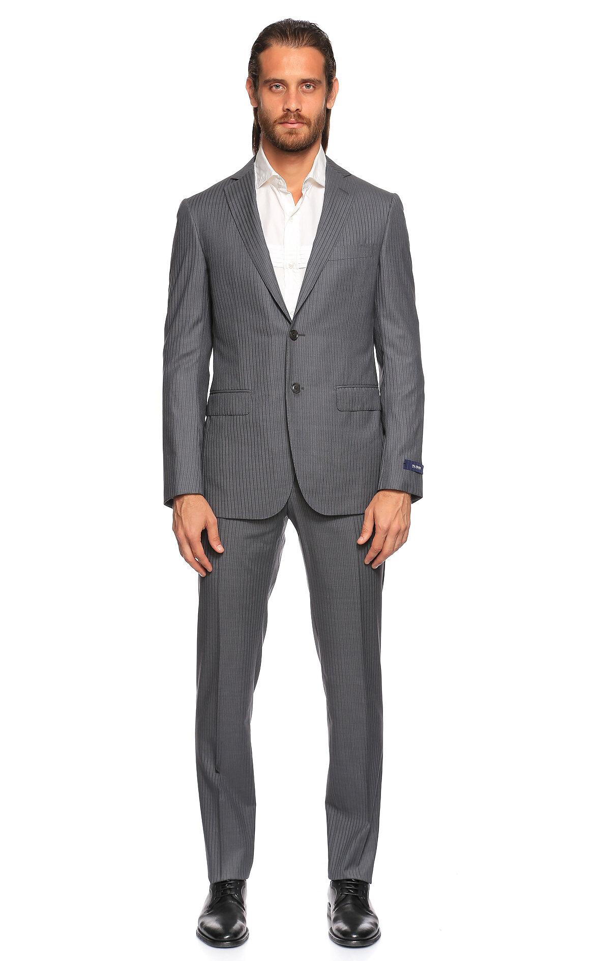 Pal Zileri-Pal Zileri Çizgili Gri Takım Elbise
