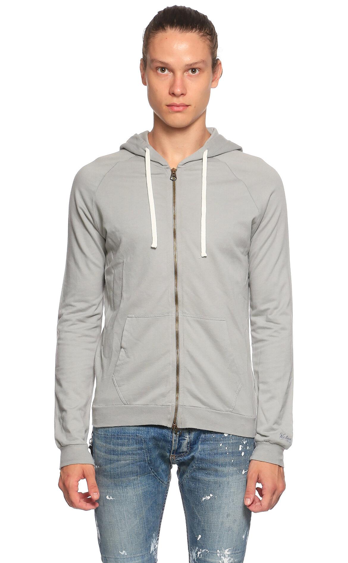 Vintage 55-Vintage 55 Kapüşonlu Gri Sweatshirt