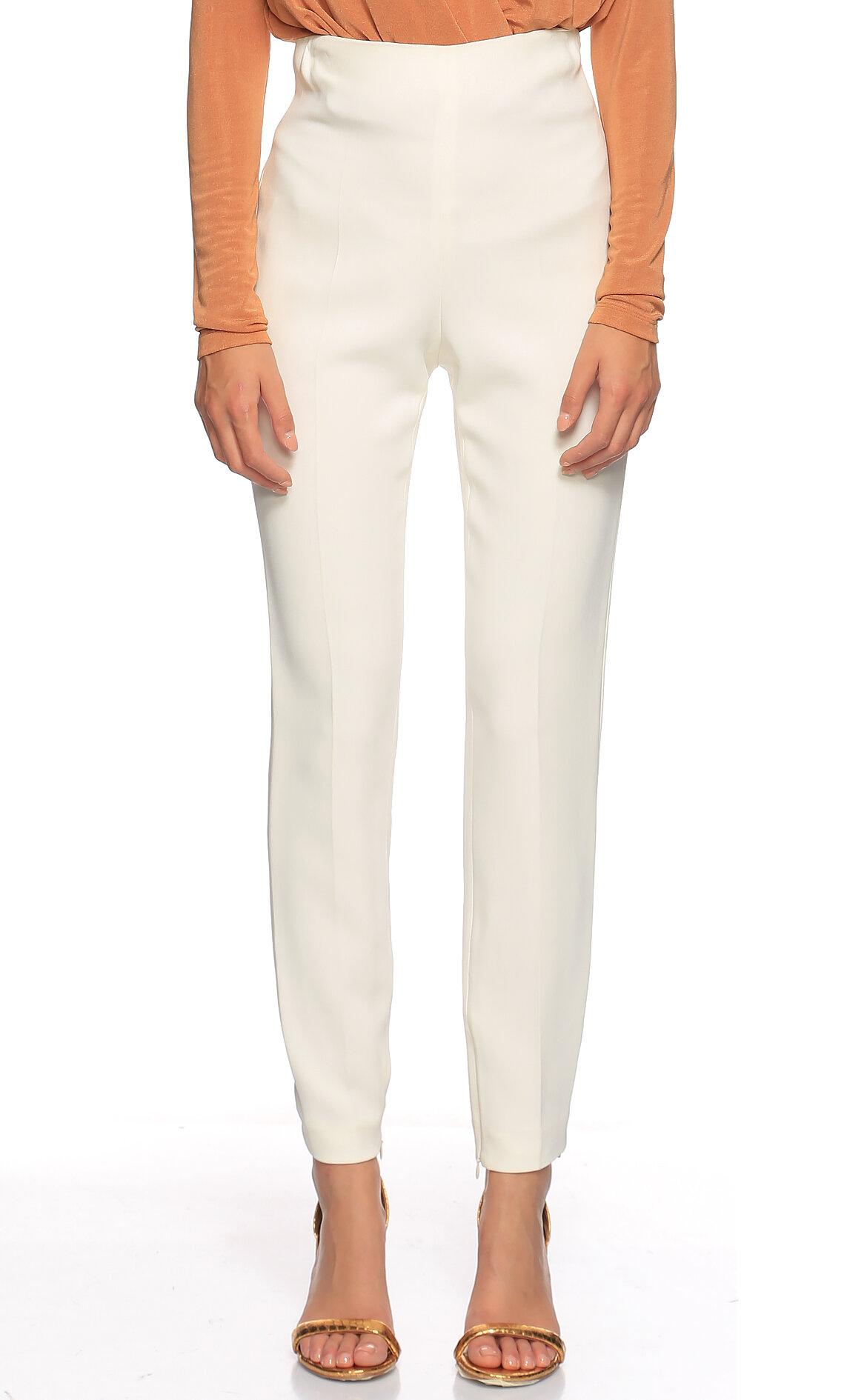 Giambattista Valli-Giambattista Valli Yüksek Belli Beyaz Pantolon