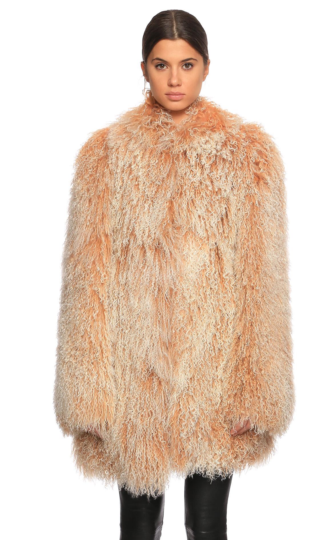 D&G-D&G Tüy Detaylı Palto