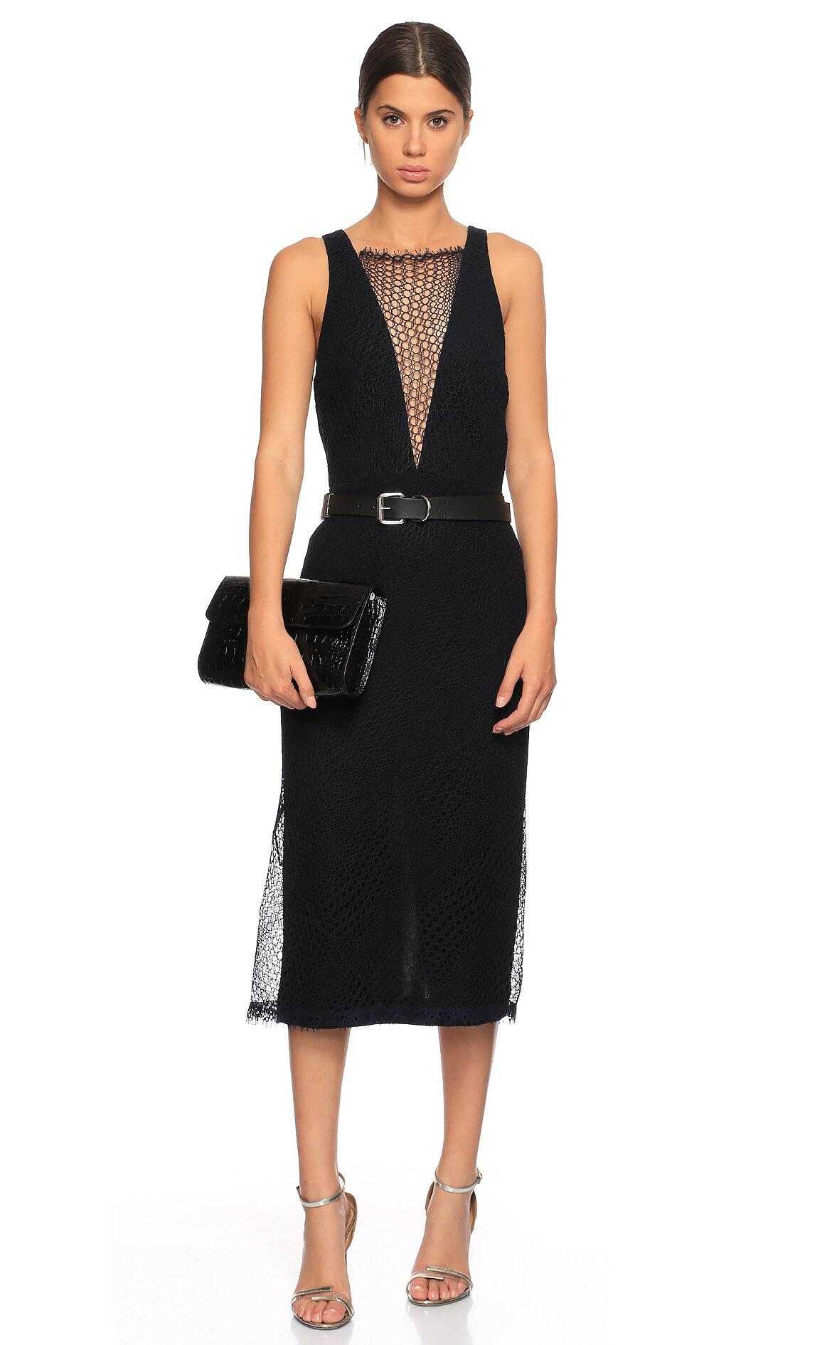 Dion Lee-Dion Lee File Detaylı Midi Elbise