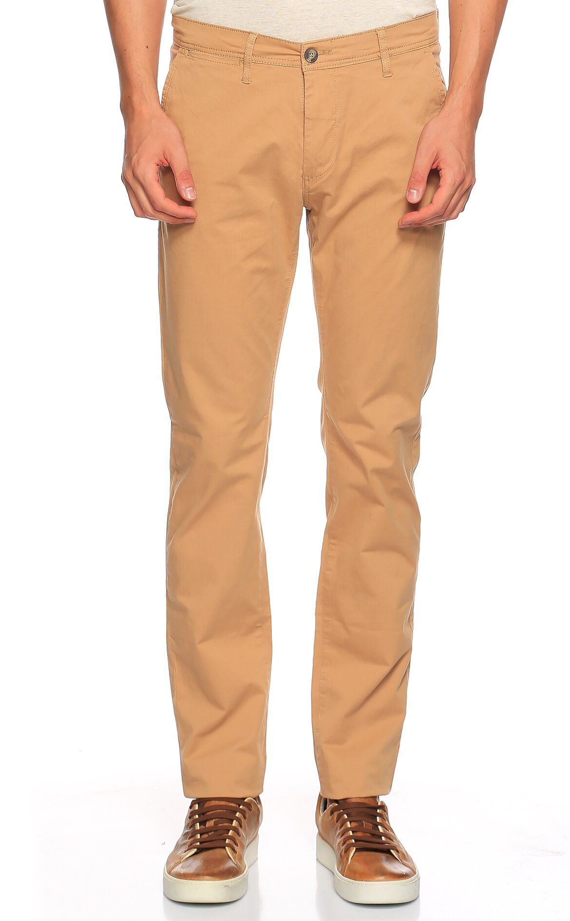 Casual Men-Casual Men Camel Pantolon