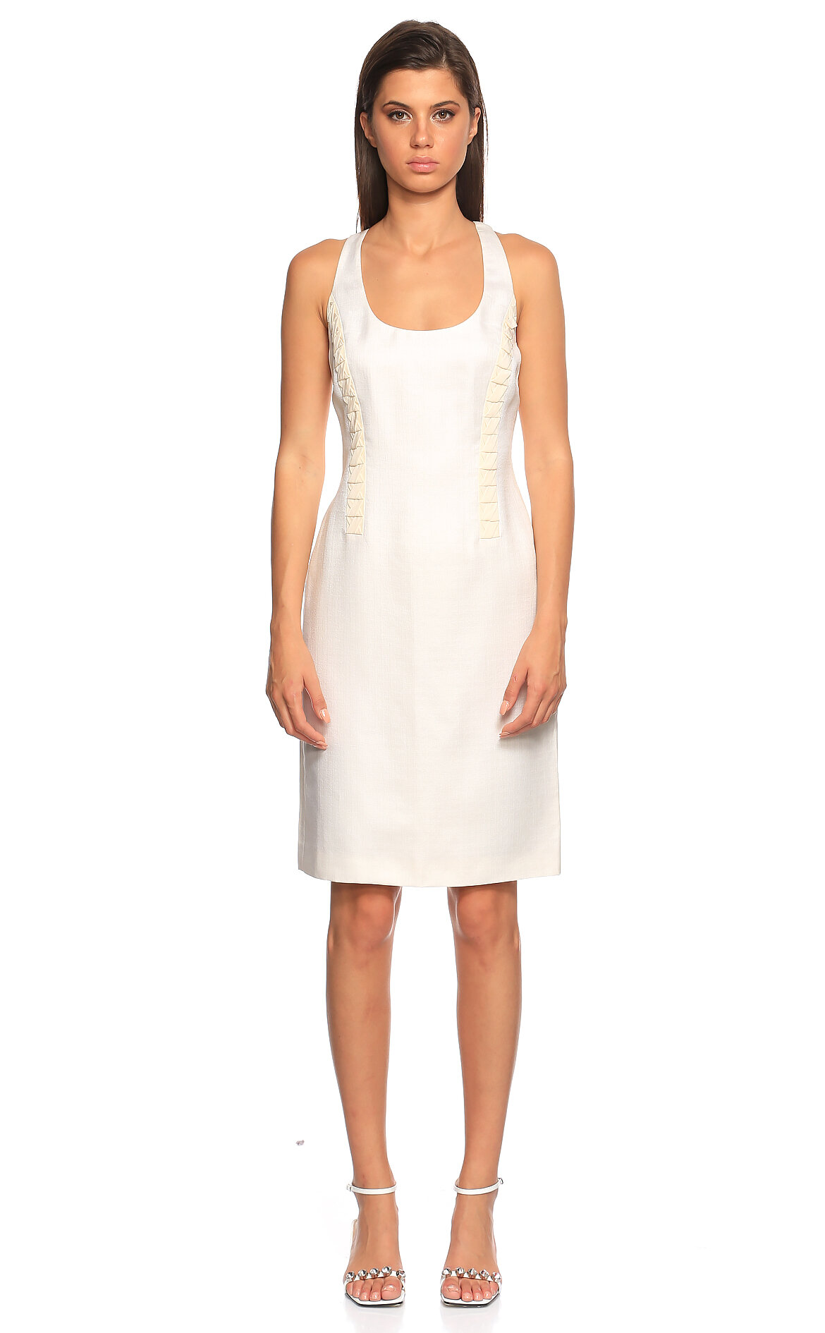 Versace  Kolsuz Krem Elbise