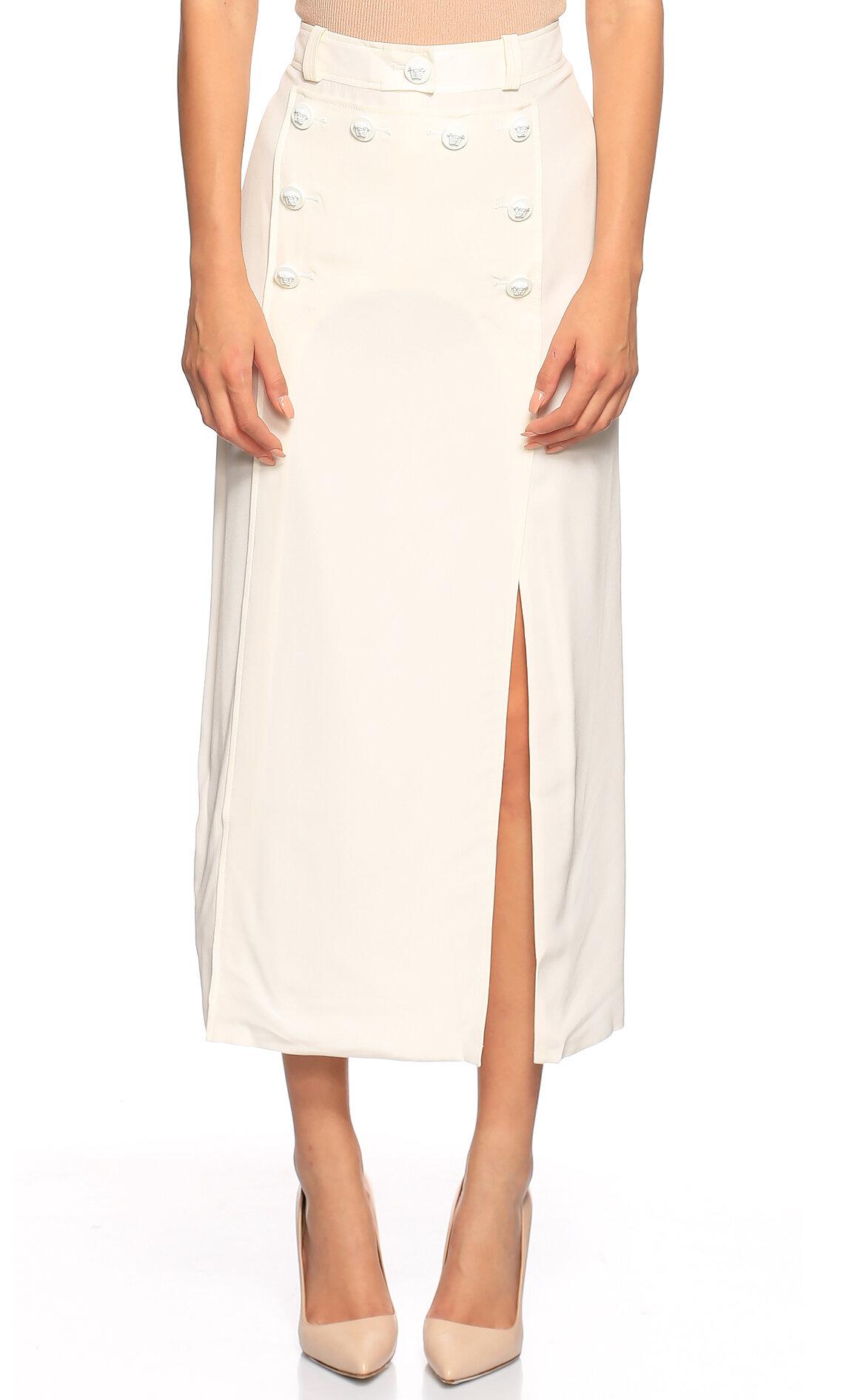 Versace-Versace Midi Beyaz Etek