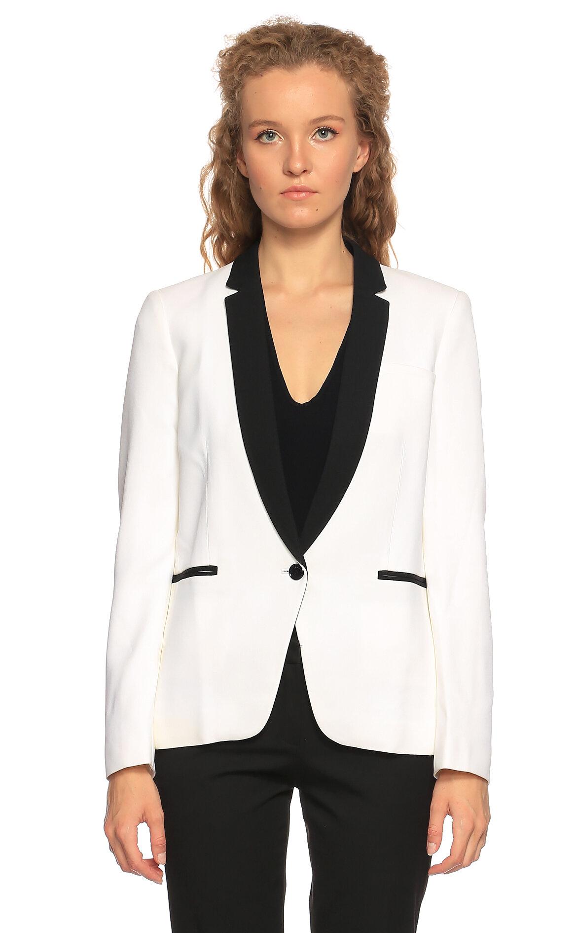 Michael Kors Collection  Beyaz Siyah Ceket
