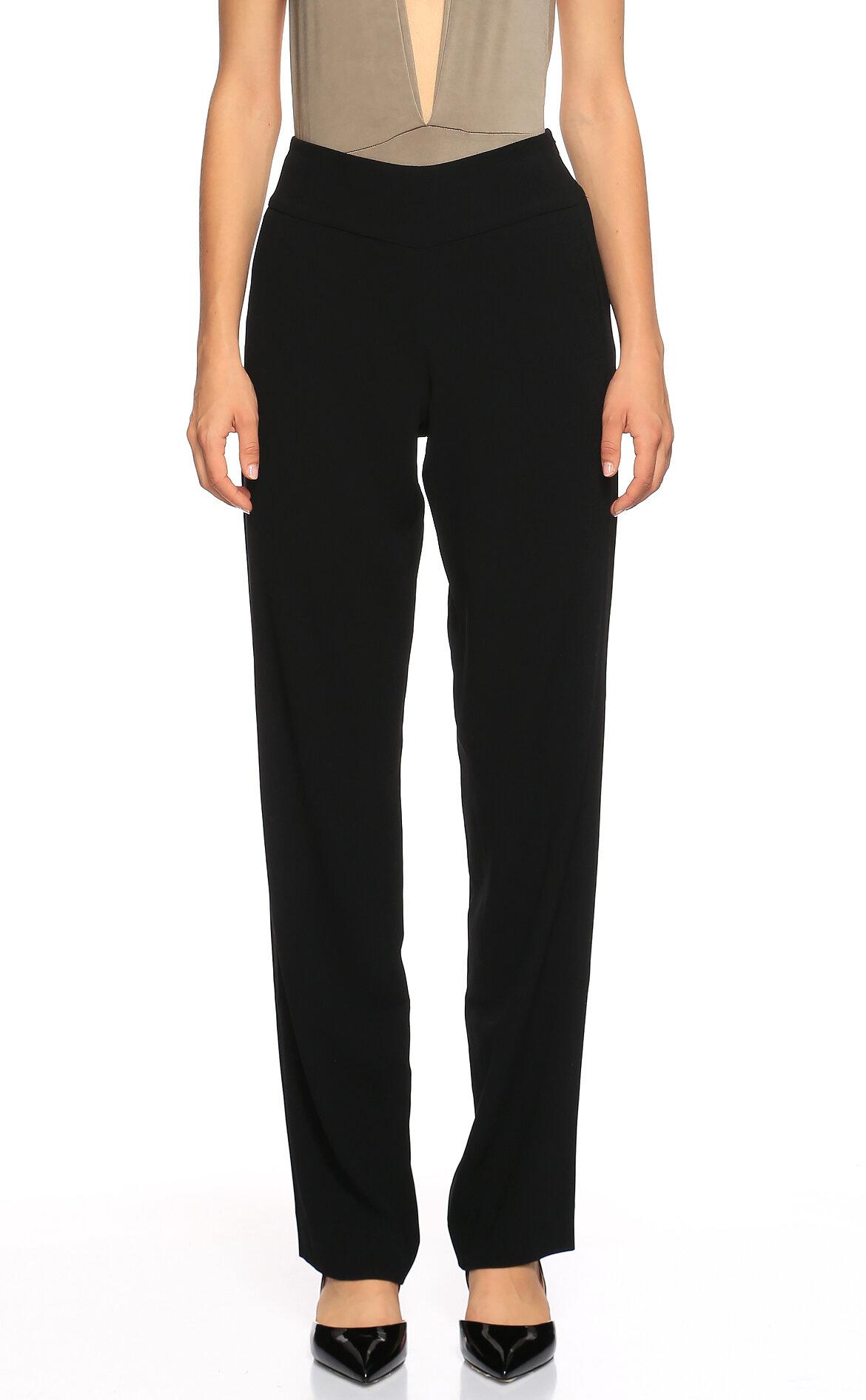 DKNY-DKNY Yüksek Belli Siyah Pantolon