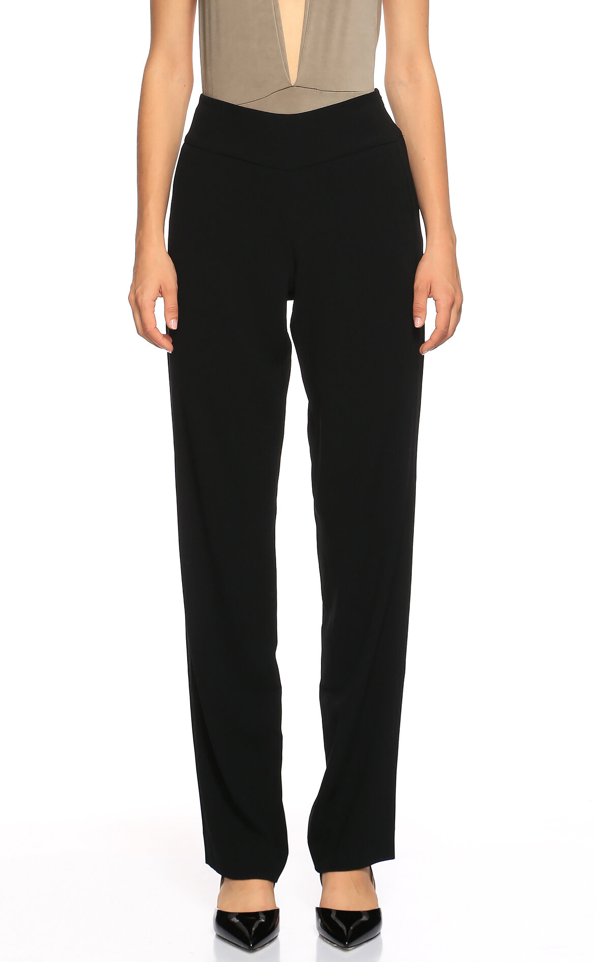 DKNY  Yüksek Belli Siyah Pantolon