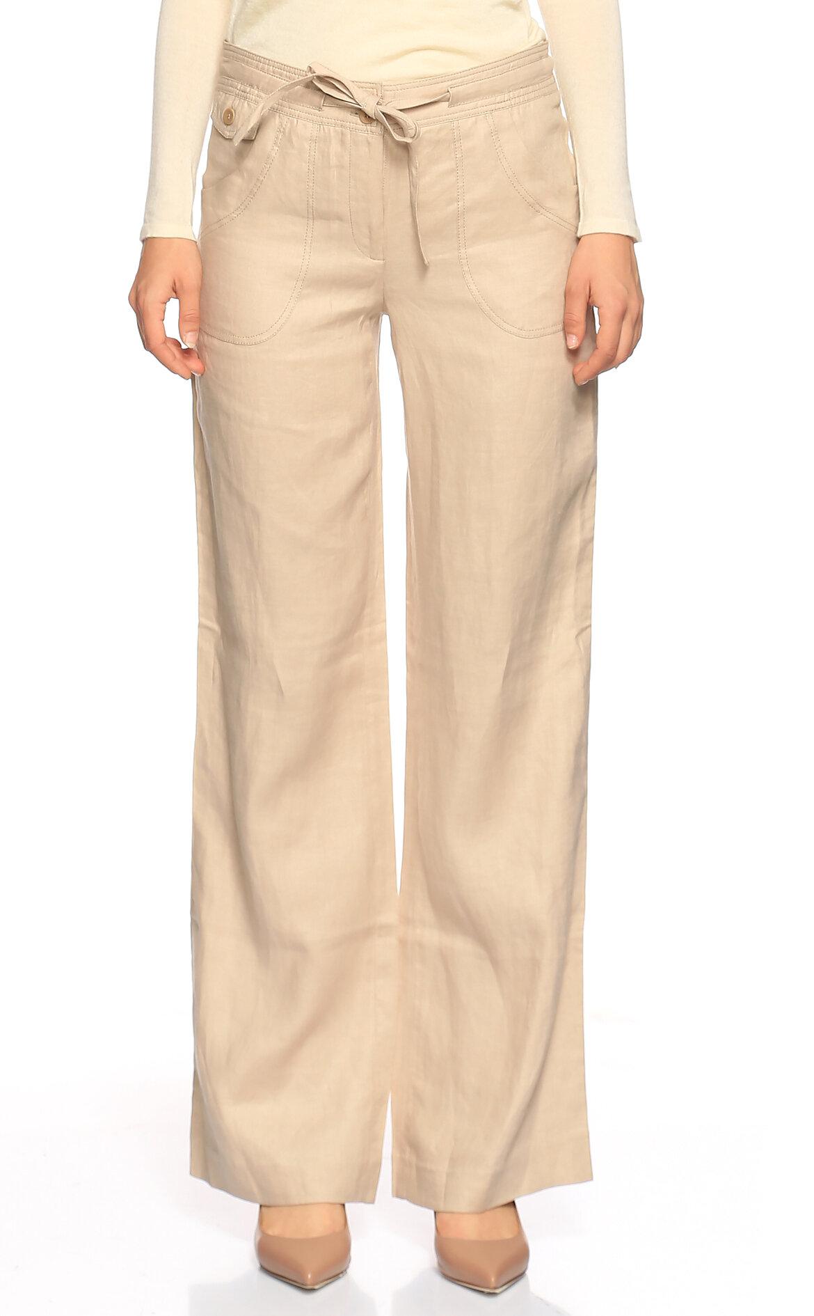 Gerard Darel-Gerard Darel Bej Rengi Cep Detaylı Bol Kesim Pantolon