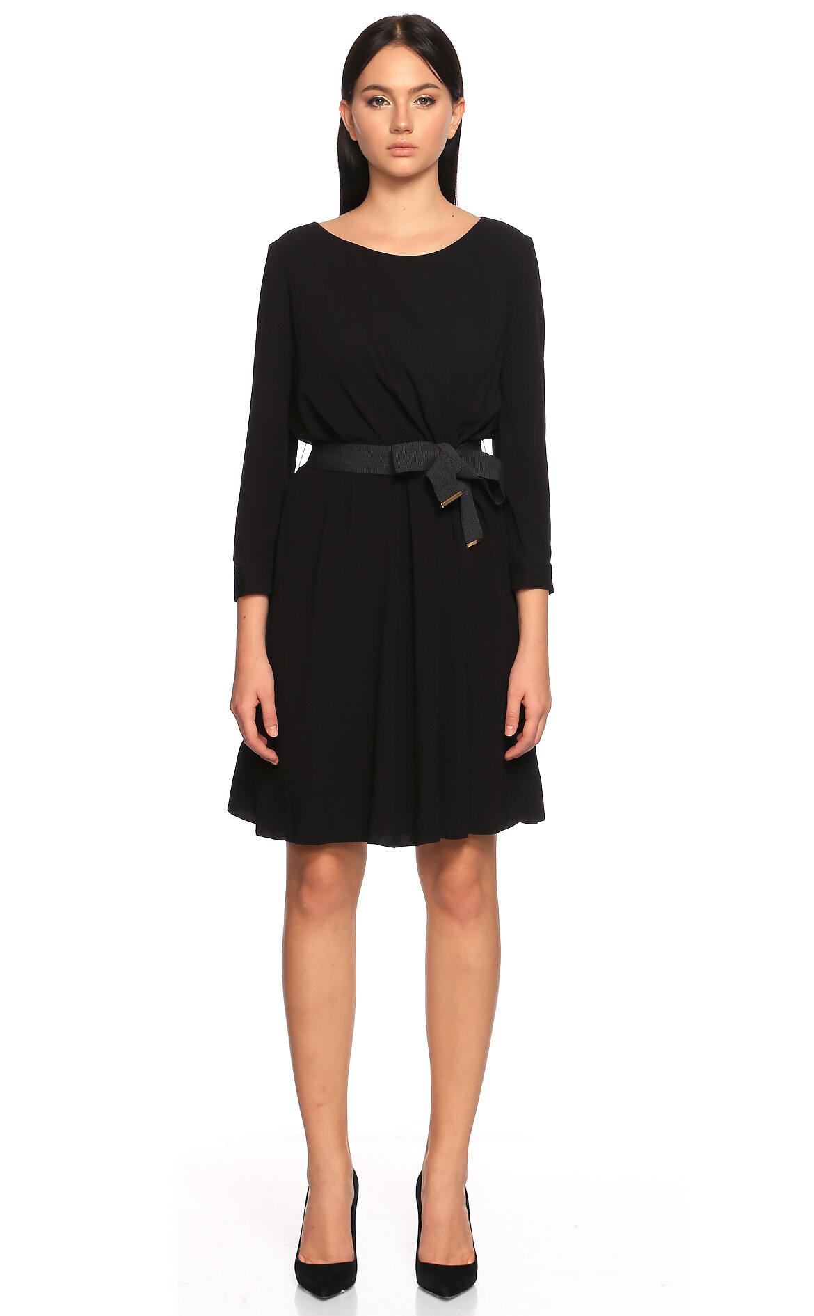 Paule Ka-Paule Ka Uzun Kollu Siyah Elbise