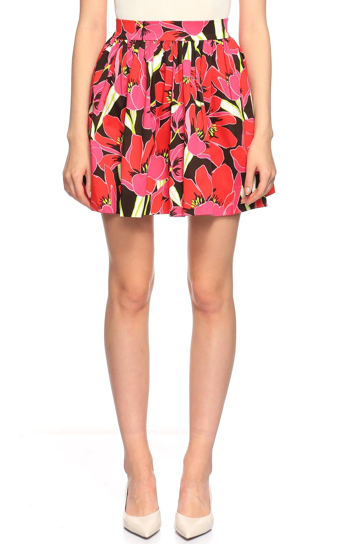Kate Spade-Kate Spade Çiçek Desenli Çok Renkli Mini Etek