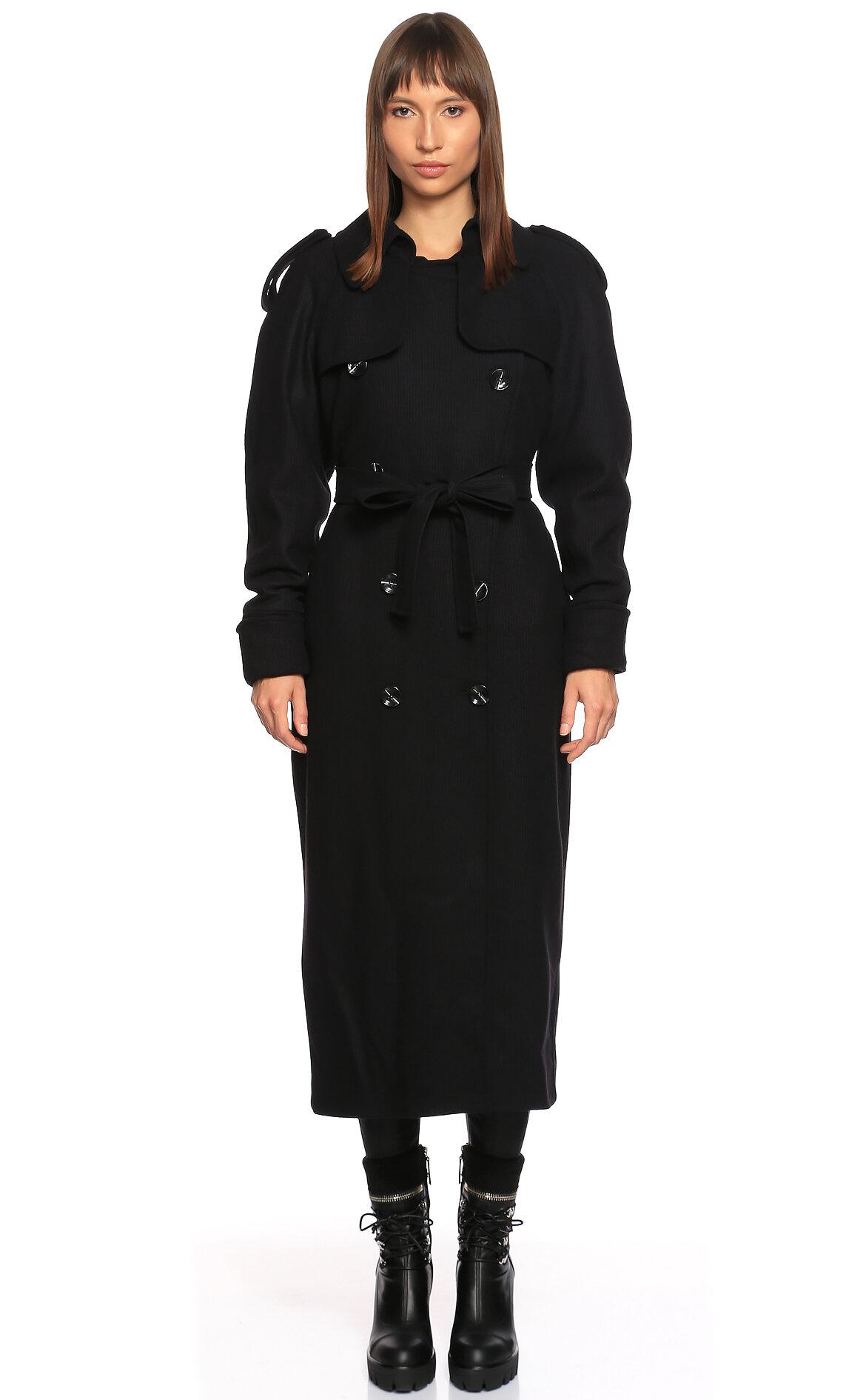 Nazlı Ceren-Nazlı Ceren Siyah Palto