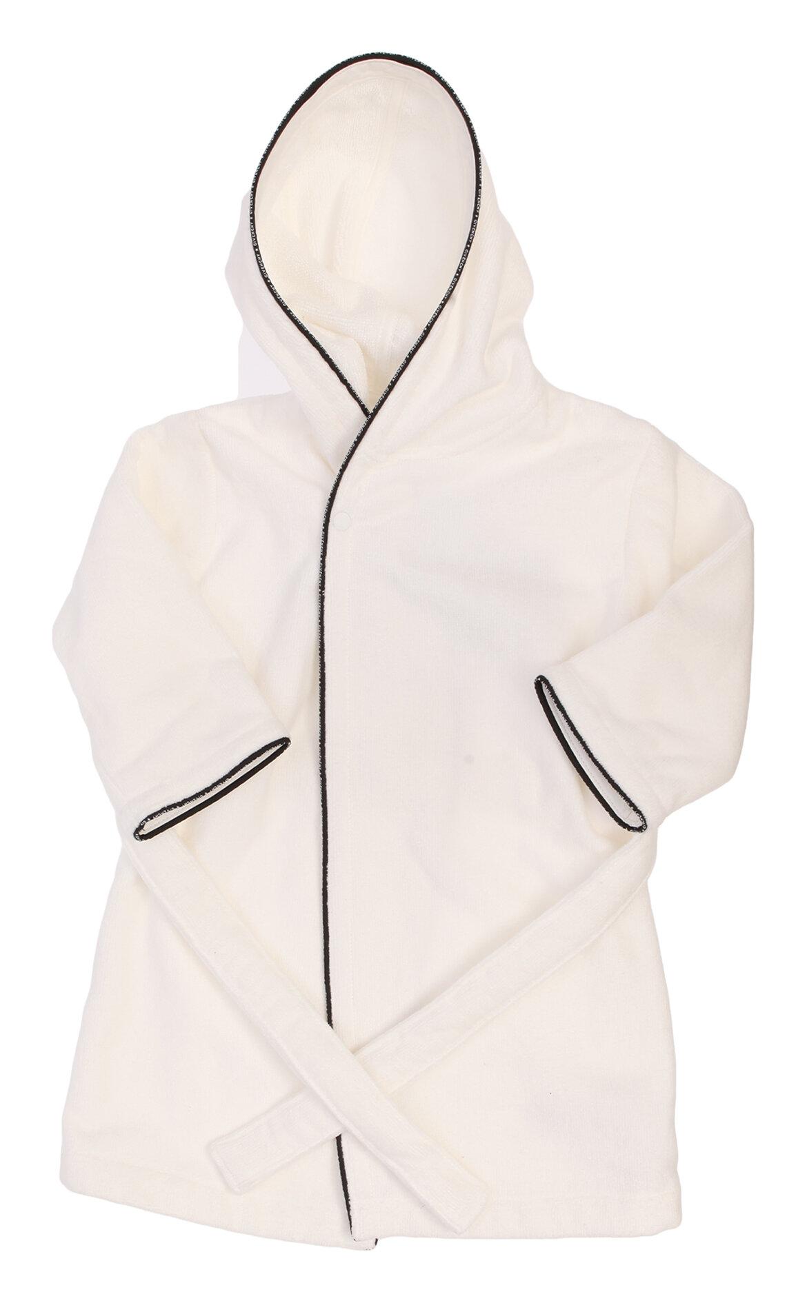 Givenchy-Givenchy Kapüşonlu Beyaz Bornoz
