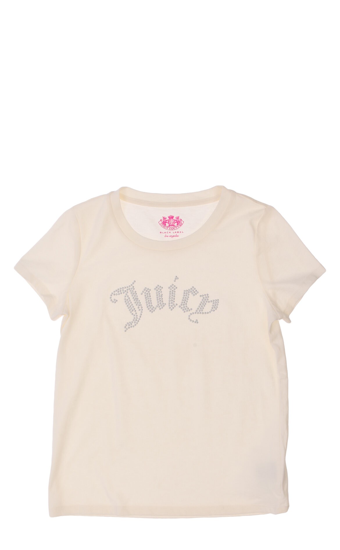 Juicy Couture-Juicy Couture İşleme Detaylı Krem T-Shirt