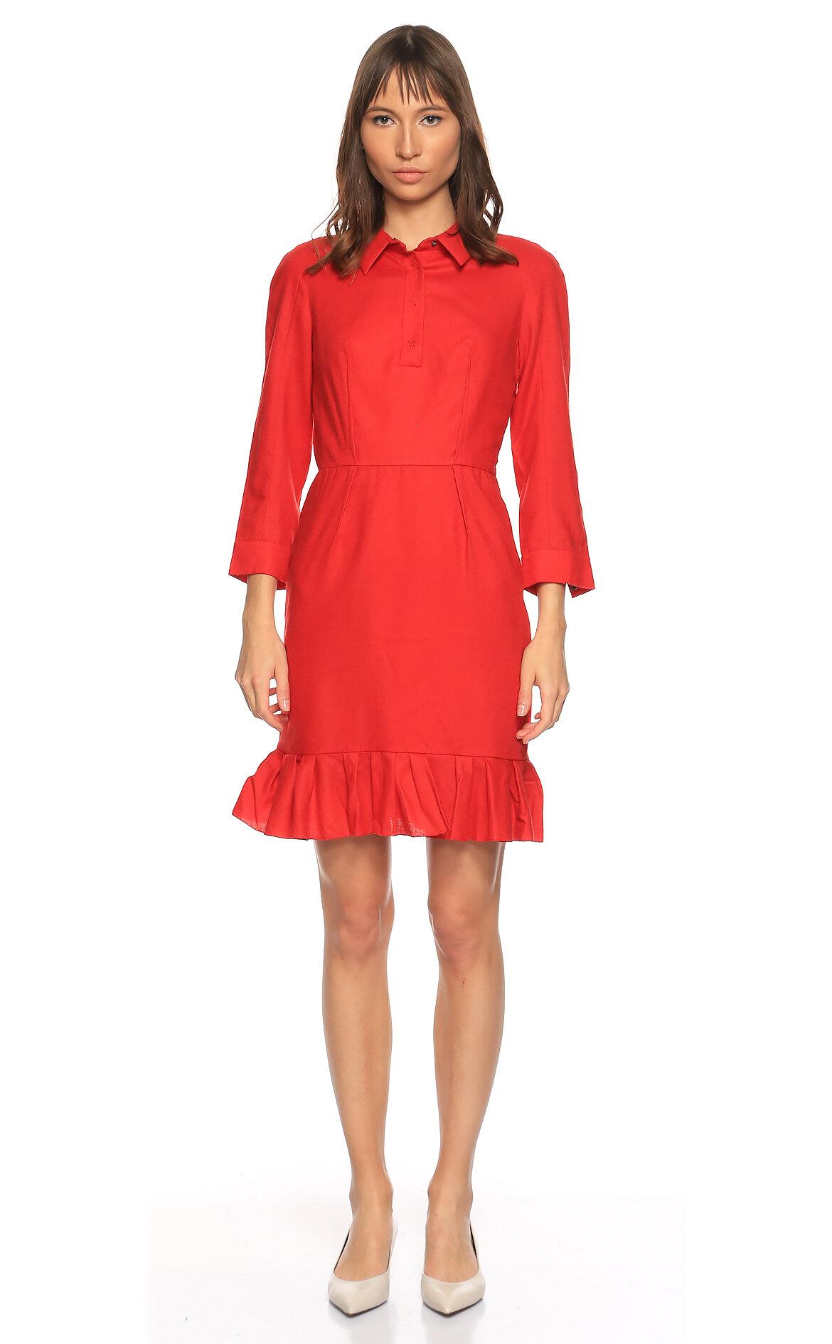 Paule Ka-Paule Ka Mini Kırmızı Elbise