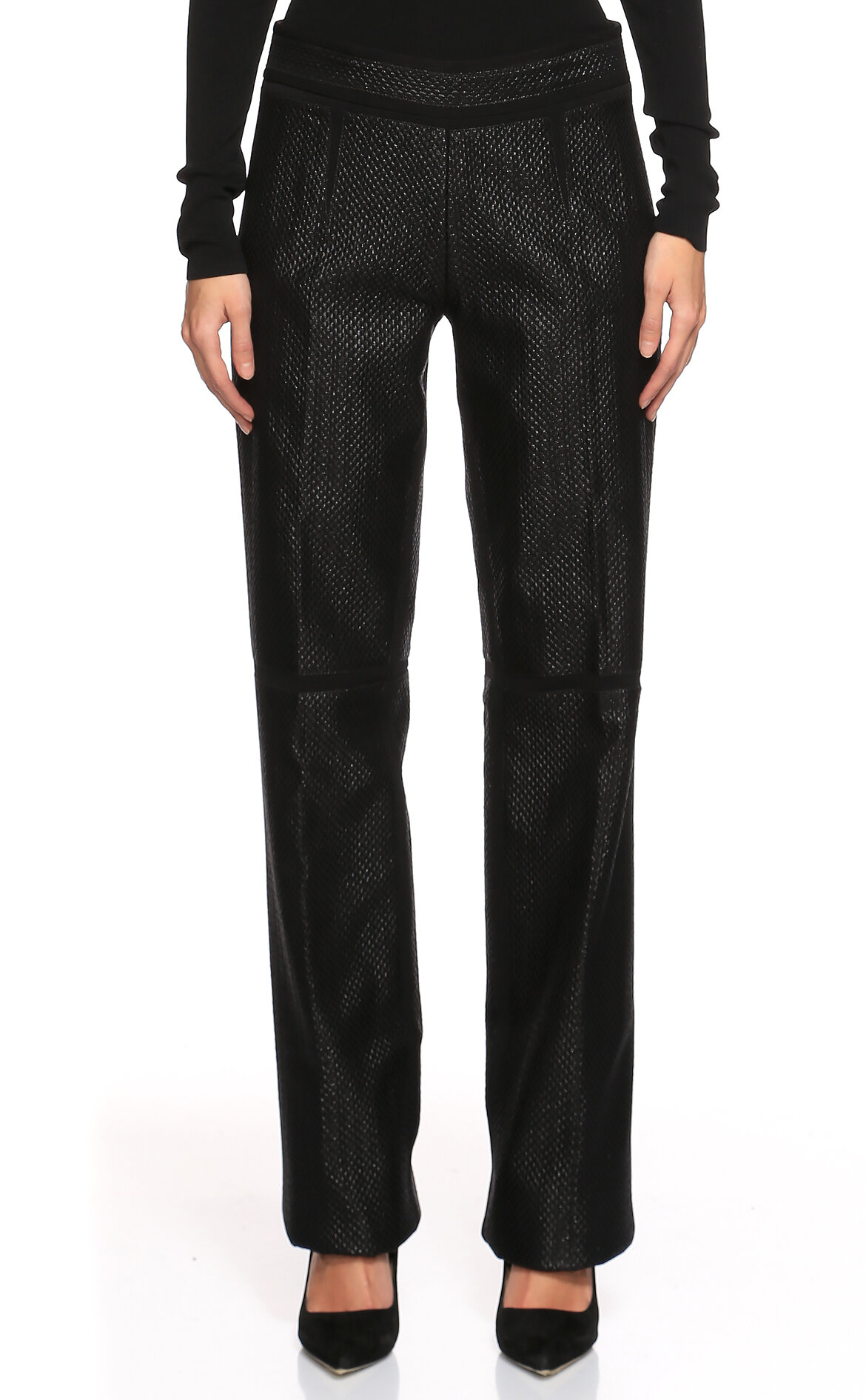 Gianfranco Ferre  Desenli Siyah Pantolon