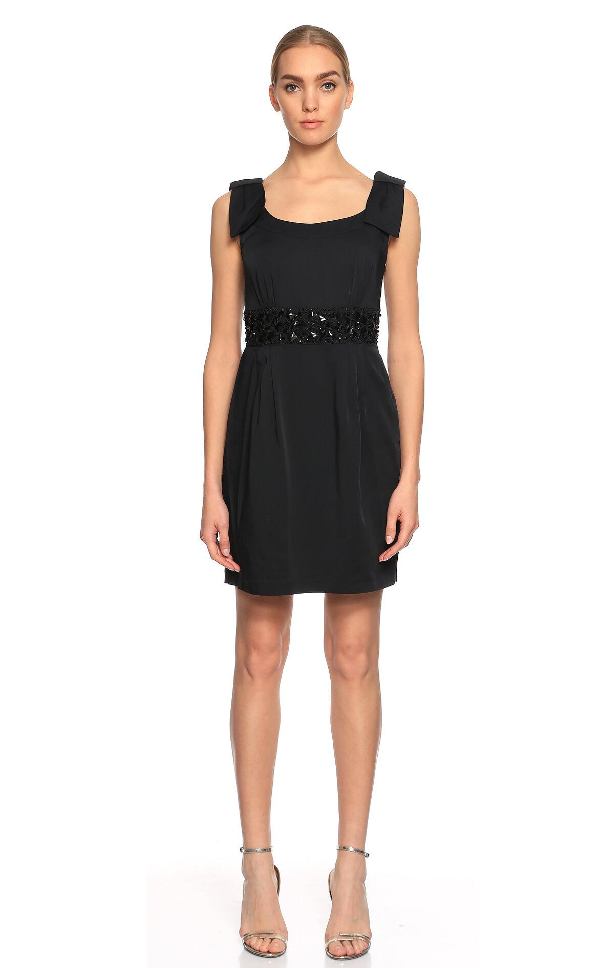 Blugirl  İşleme Detaylı Mini Siyah Elbise