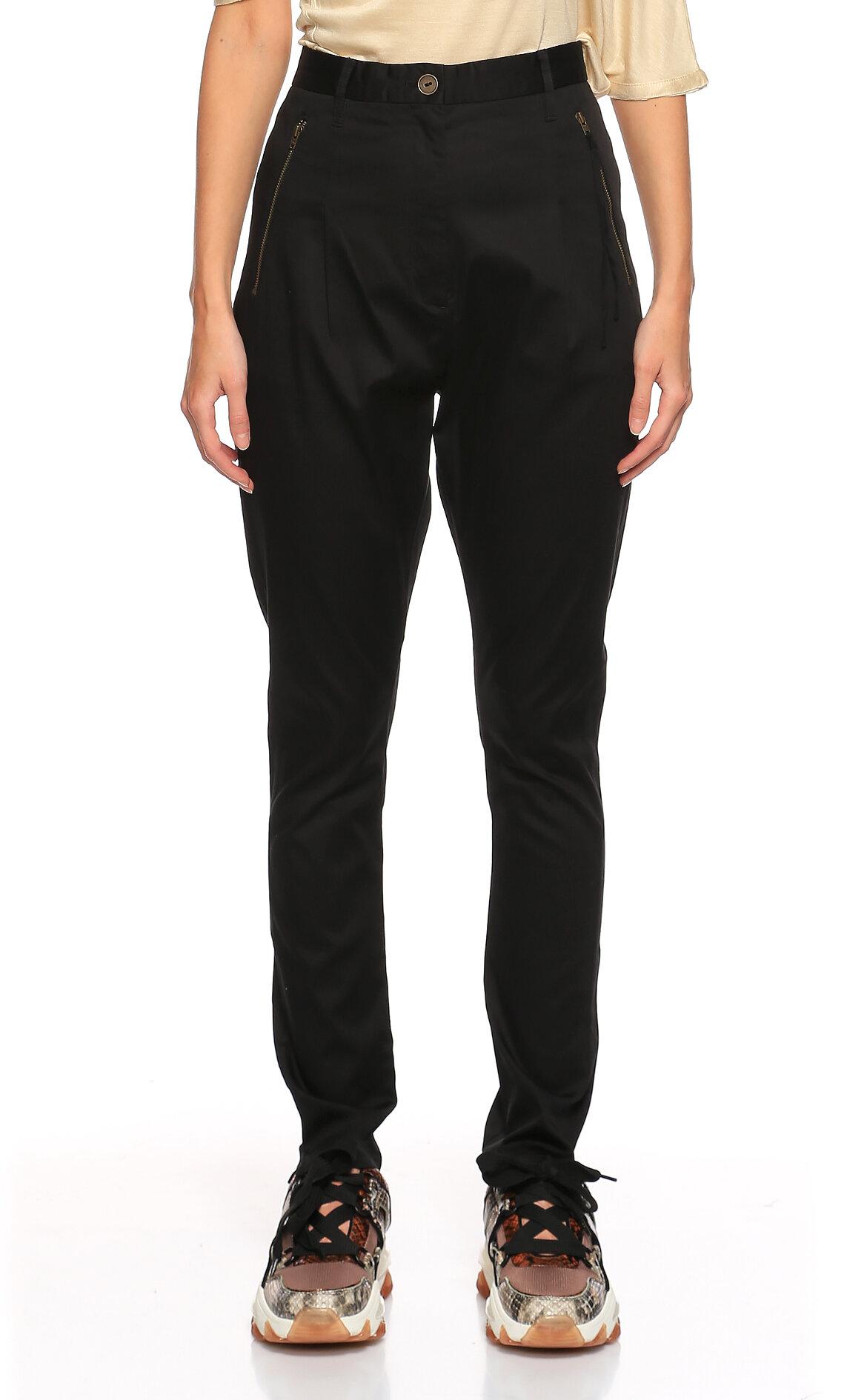 Acne Studios-Acne Studios Şalvar Model Siyah Pantolon
