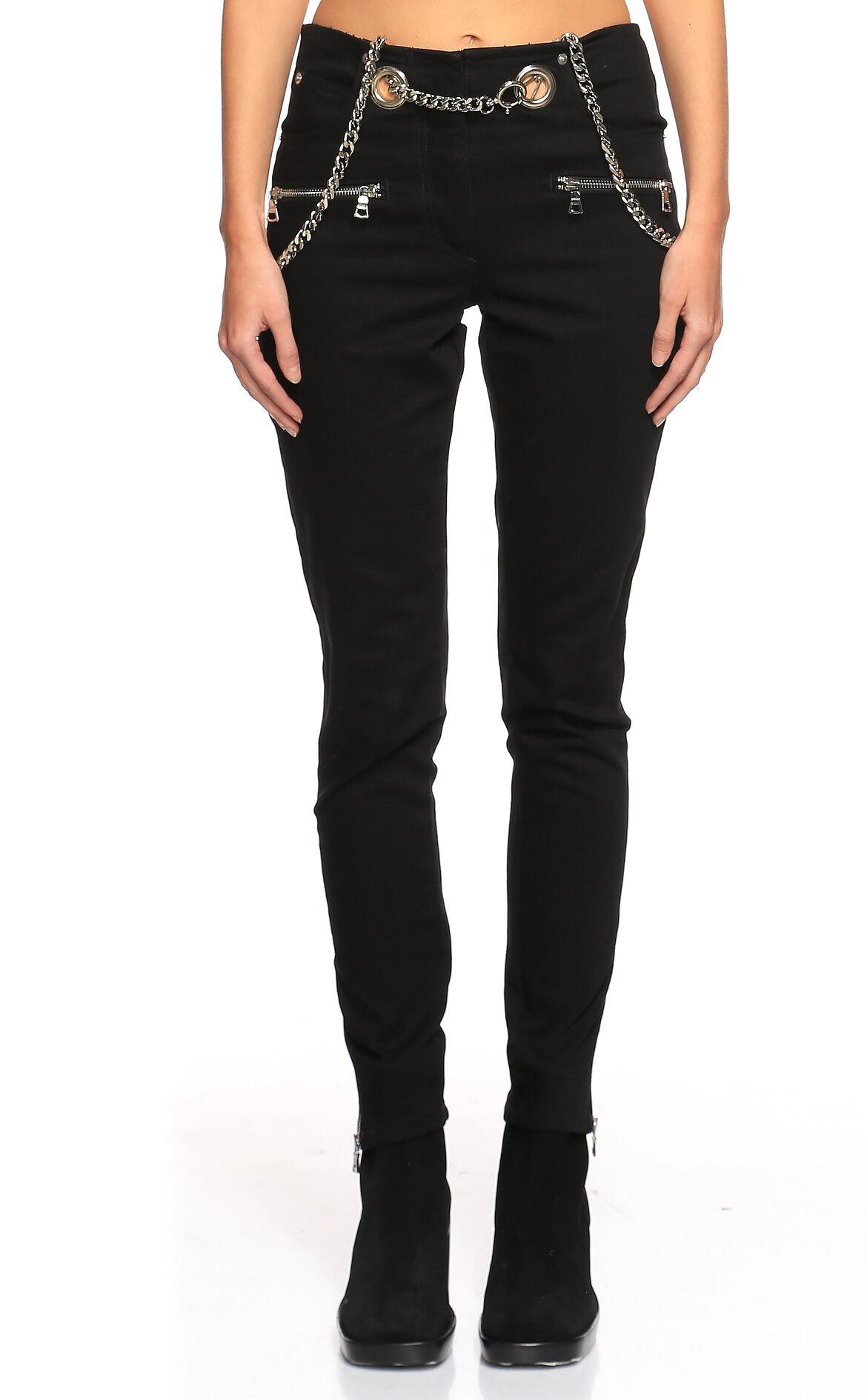Miaou-Miaou Kemer Detaylı Siyah Pantolon