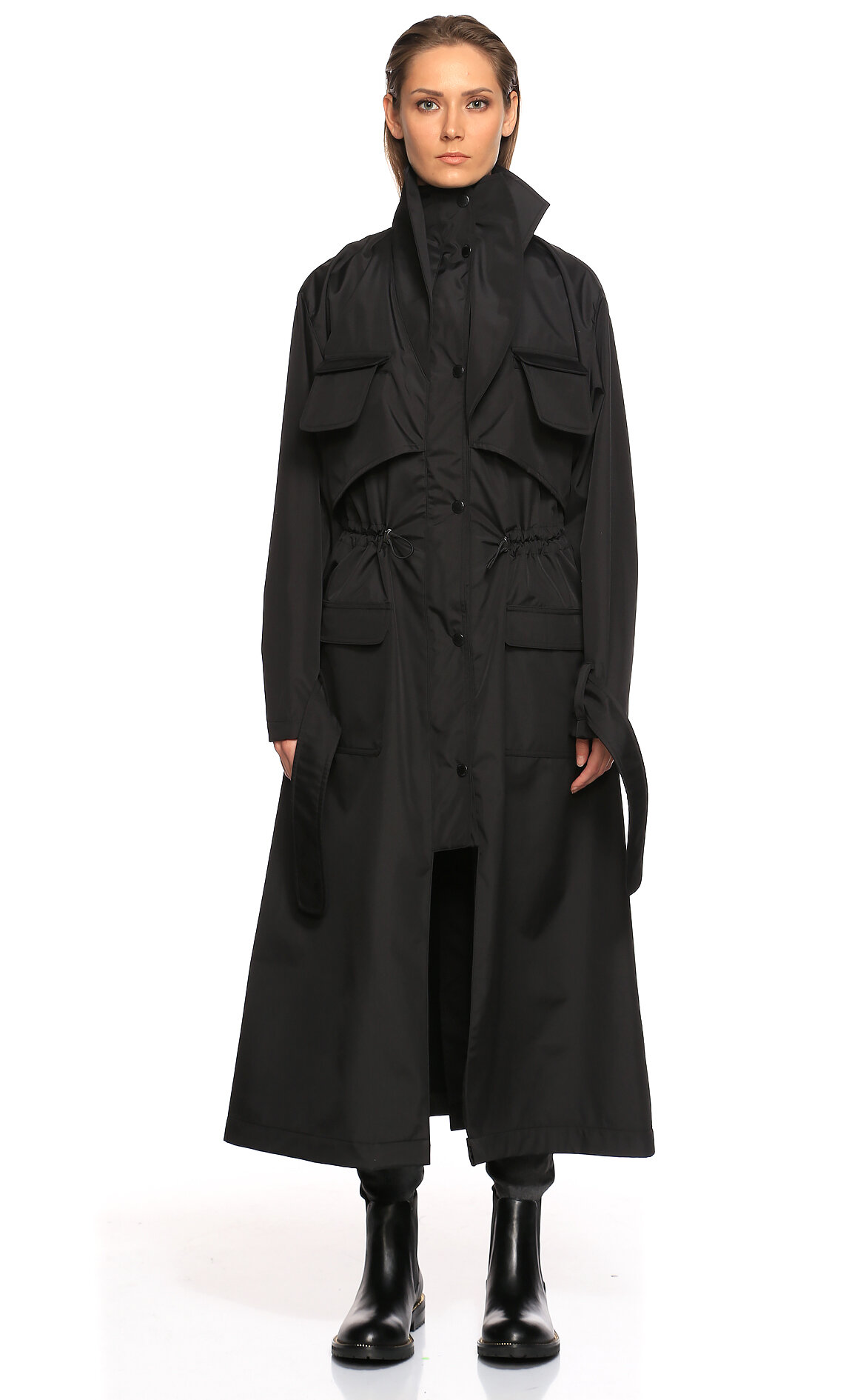 Coloreve-Coloreve Siyah Trençkot
